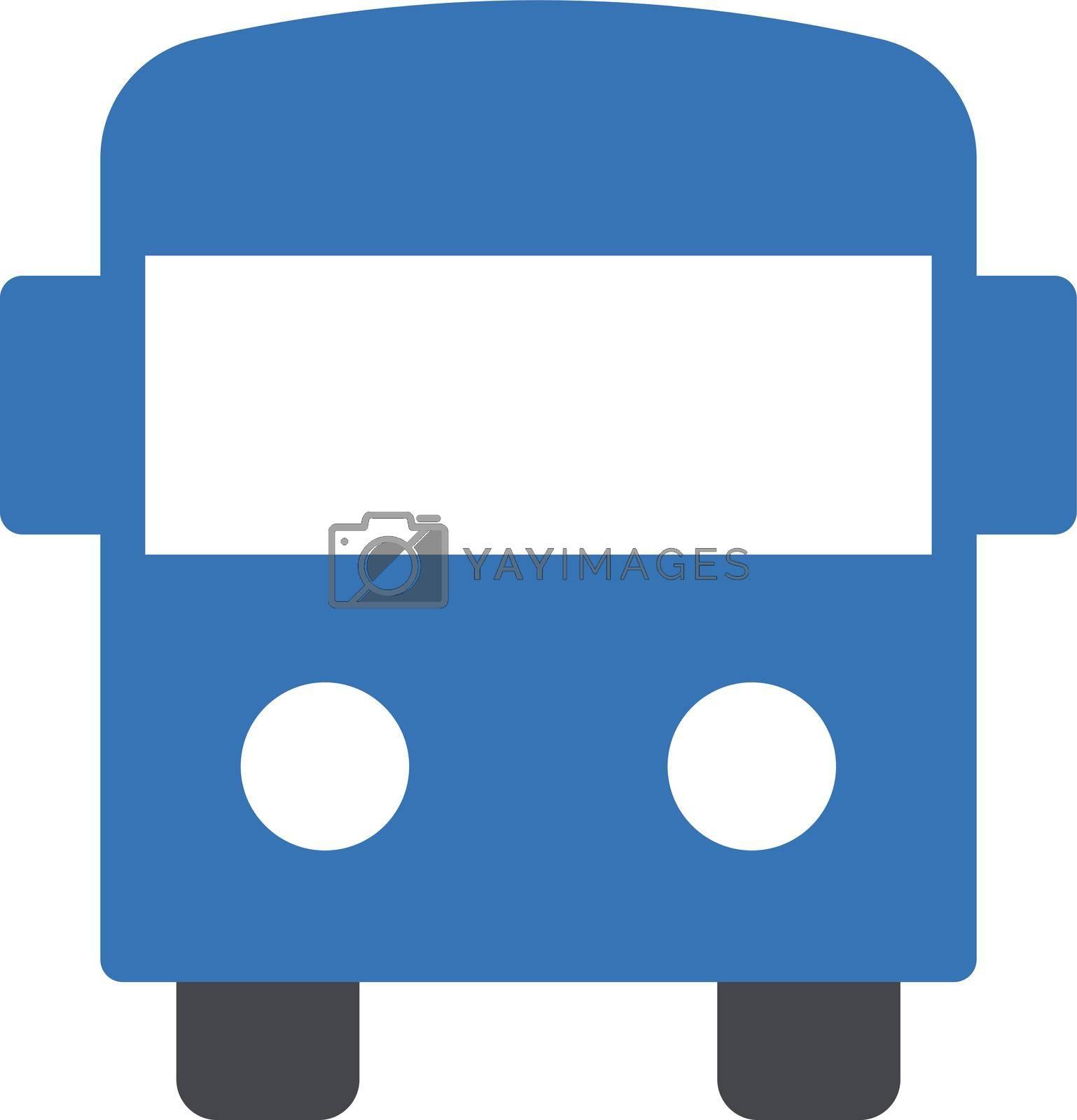 school bus vector glyph colour icon
