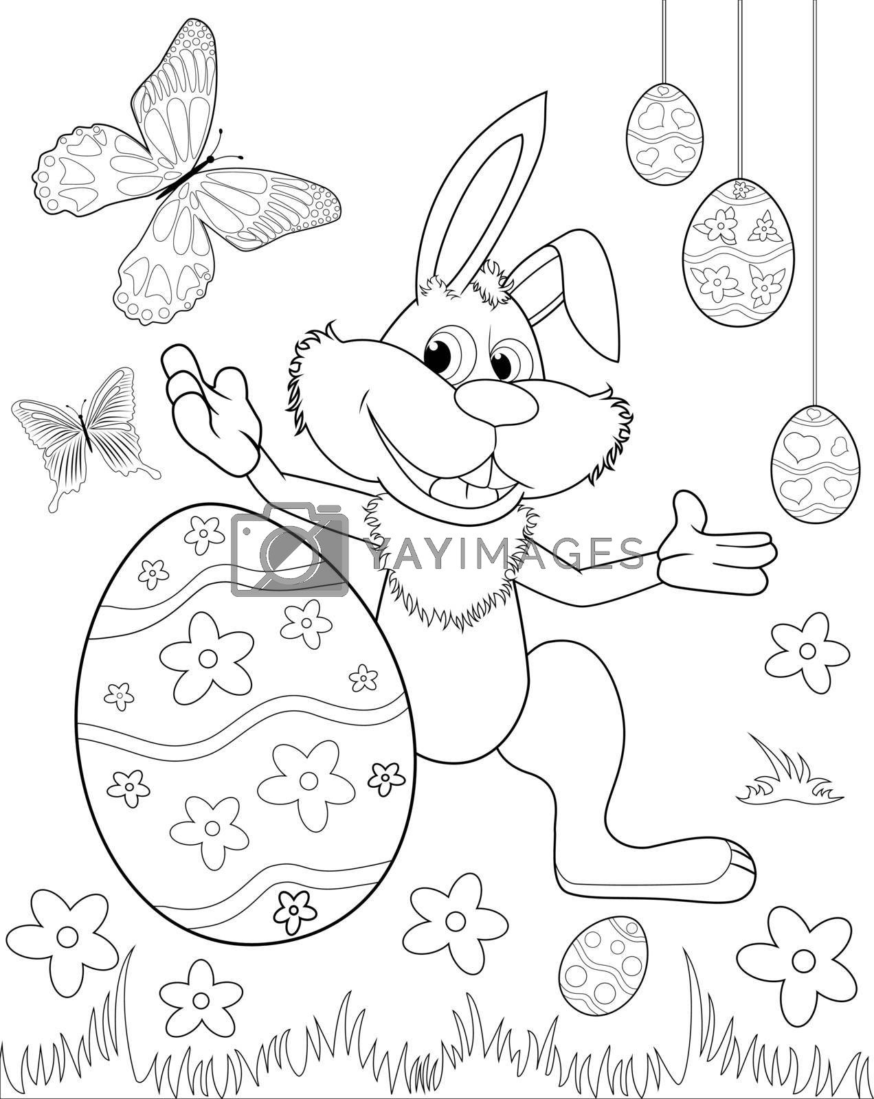 Royalty free image of Easter bunny coloring book by liolle
