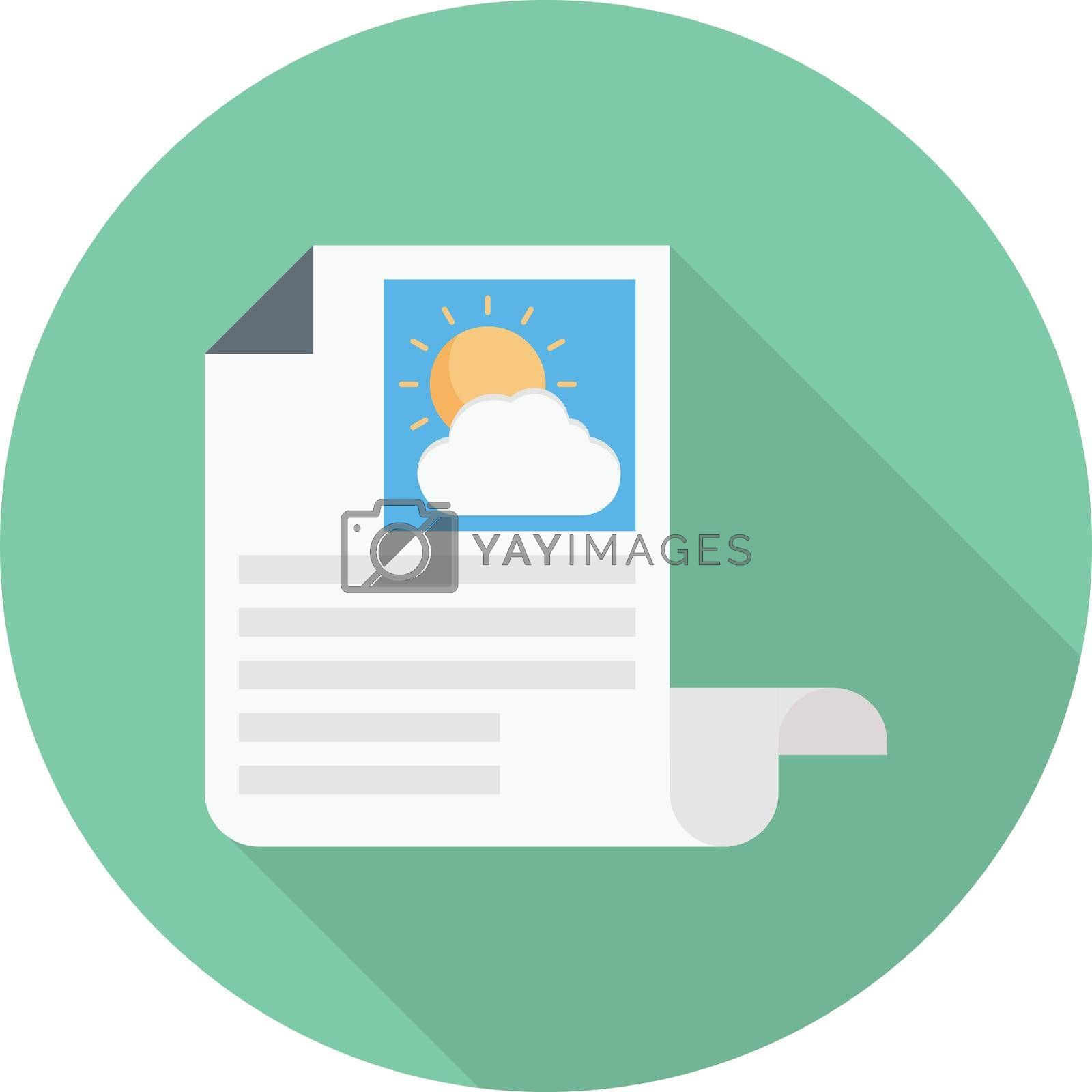newspaper weather vector flat colour icon