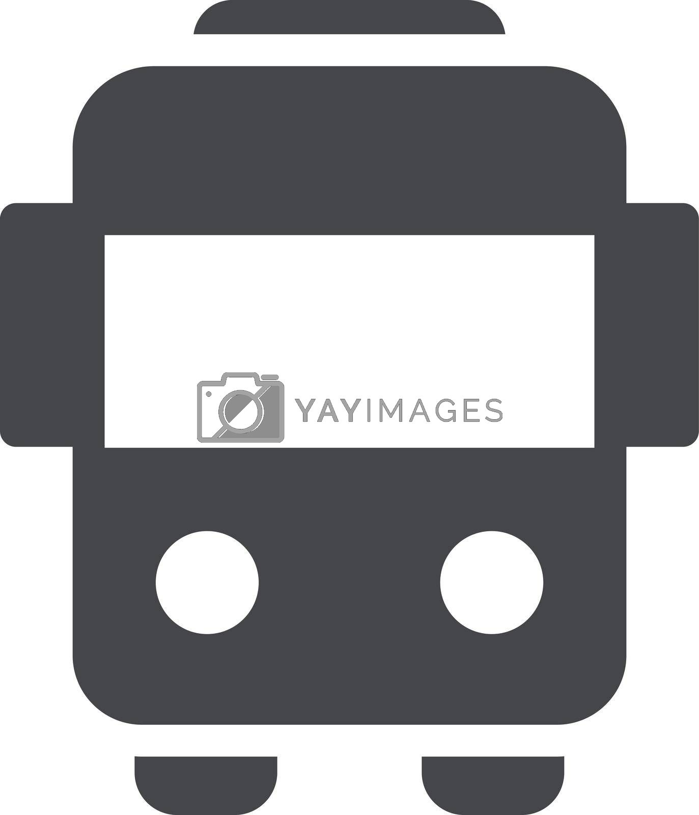 bus vector glyph color icon
