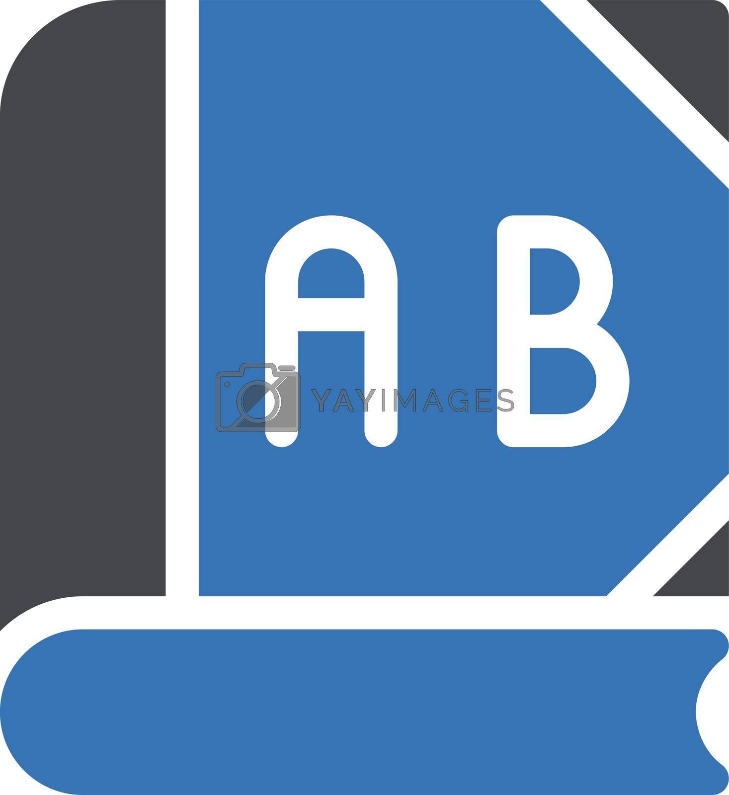 education vector glyph colour icon