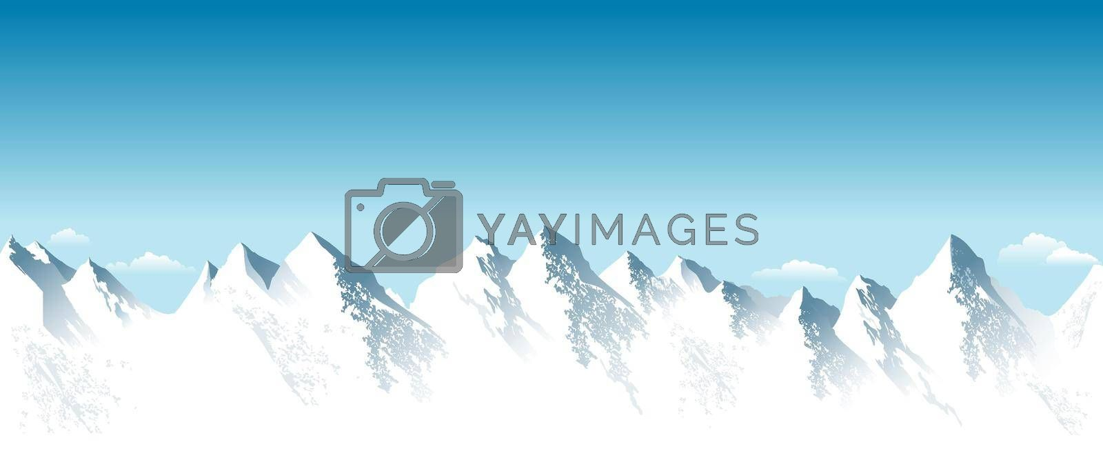 Royalty free image of Mountain peaks covered with snow by liolle