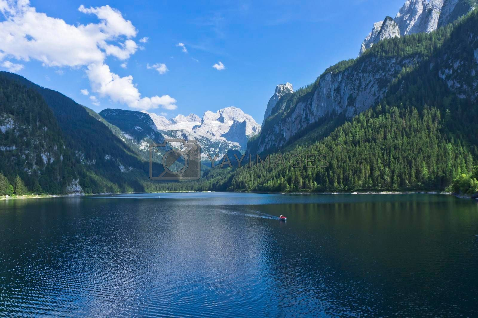 Gosau in Alps, Lake view, Austria, Europe