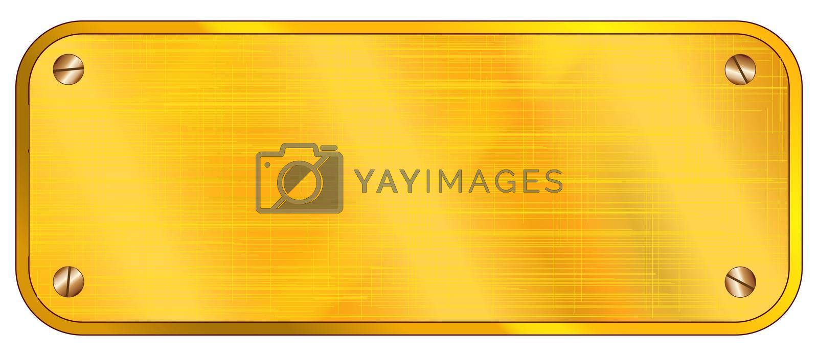 Royalty free image of Blank Brass Plaque by Bigalbaloo