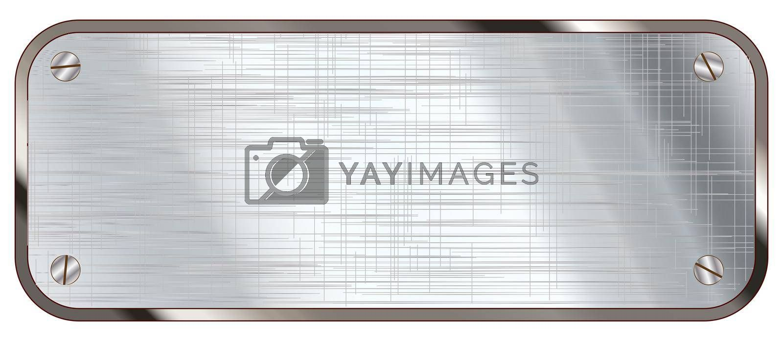 Royalty free image of Blank Metal Plaque by Bigalbaloo