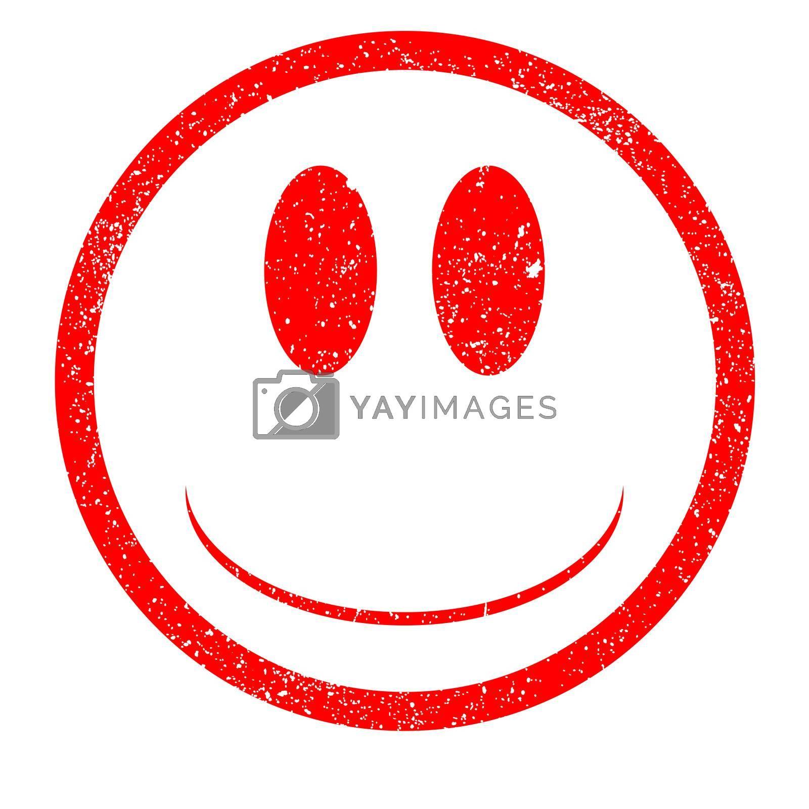 Royalty free image of Emoji Rubber Stamp by Bigalbaloo