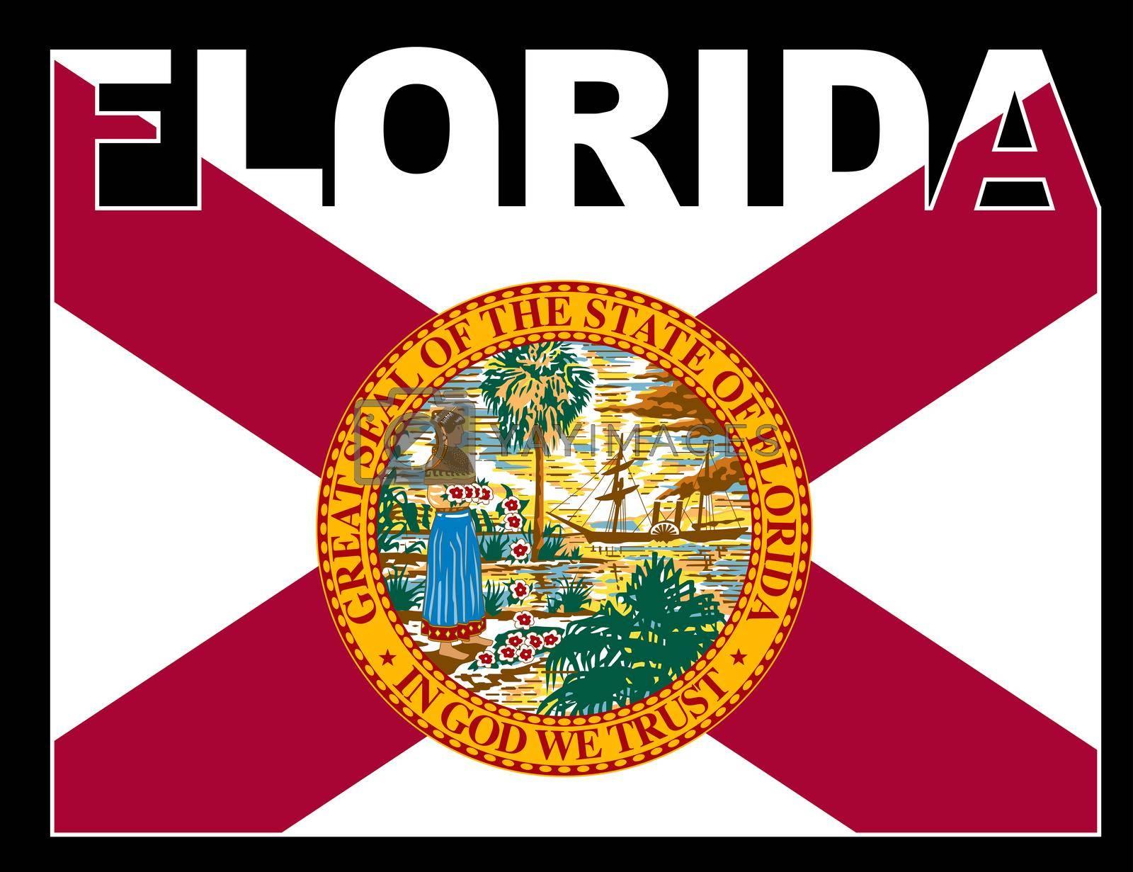 Royalty free image of Florida Text Flag by Bigalbaloo