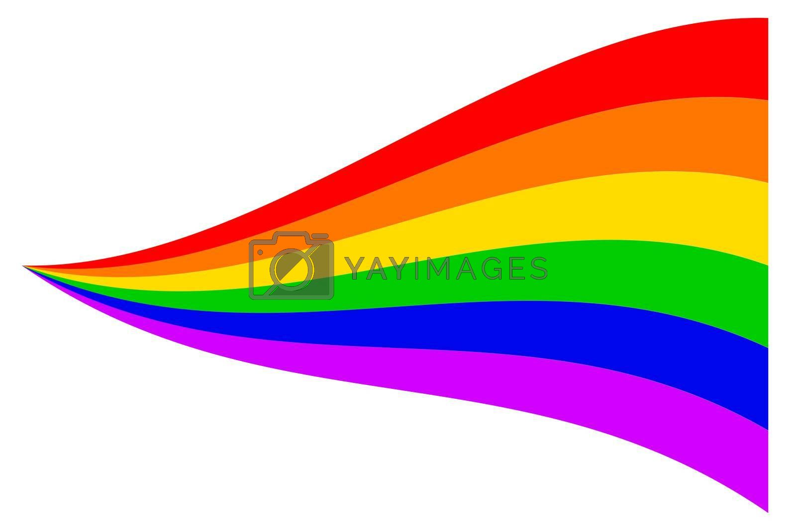 The Gay Trangender background in the traditional rainbow colors