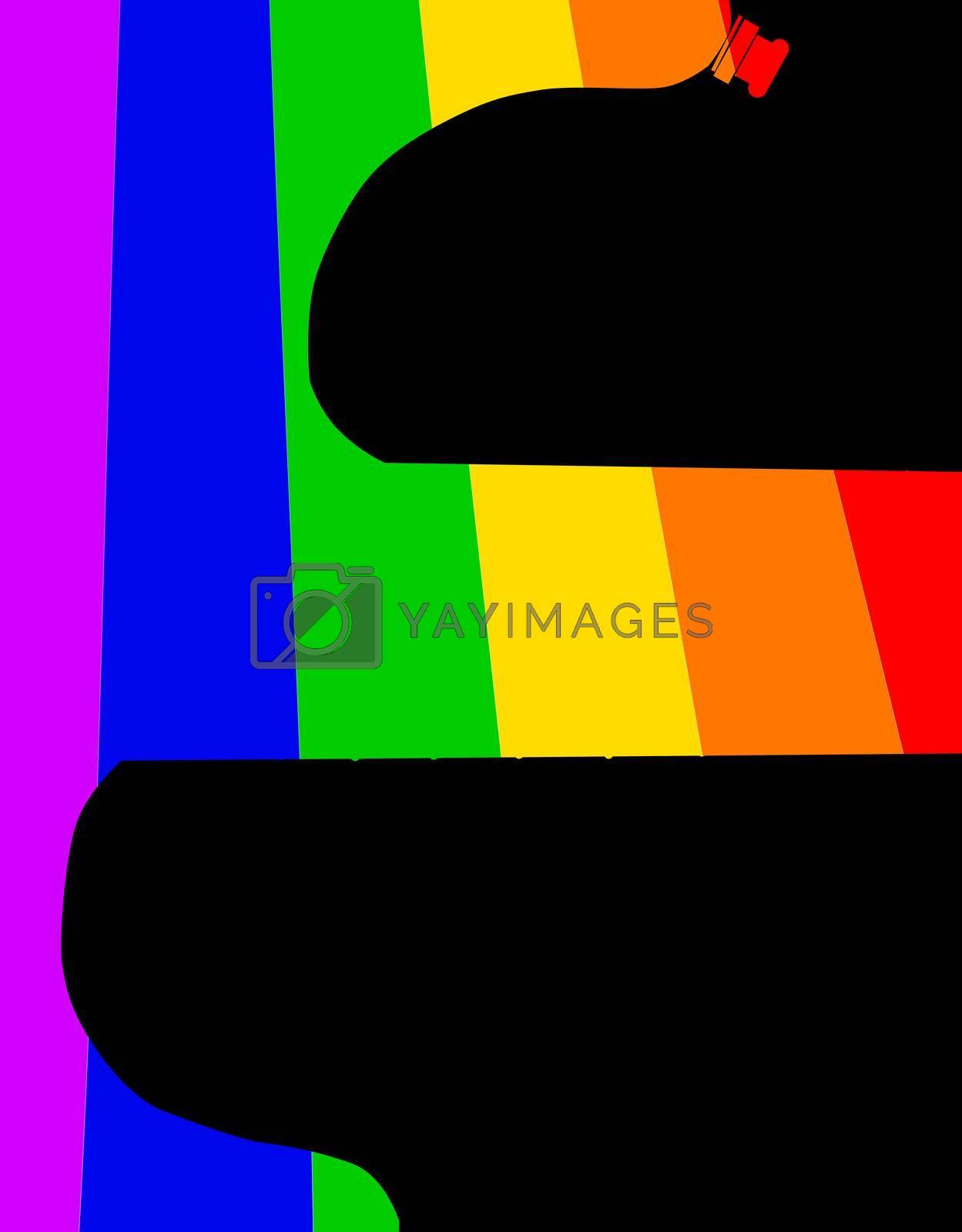 Royalty free image of Guitar LGBTQ Rainbow by Bigalbaloo