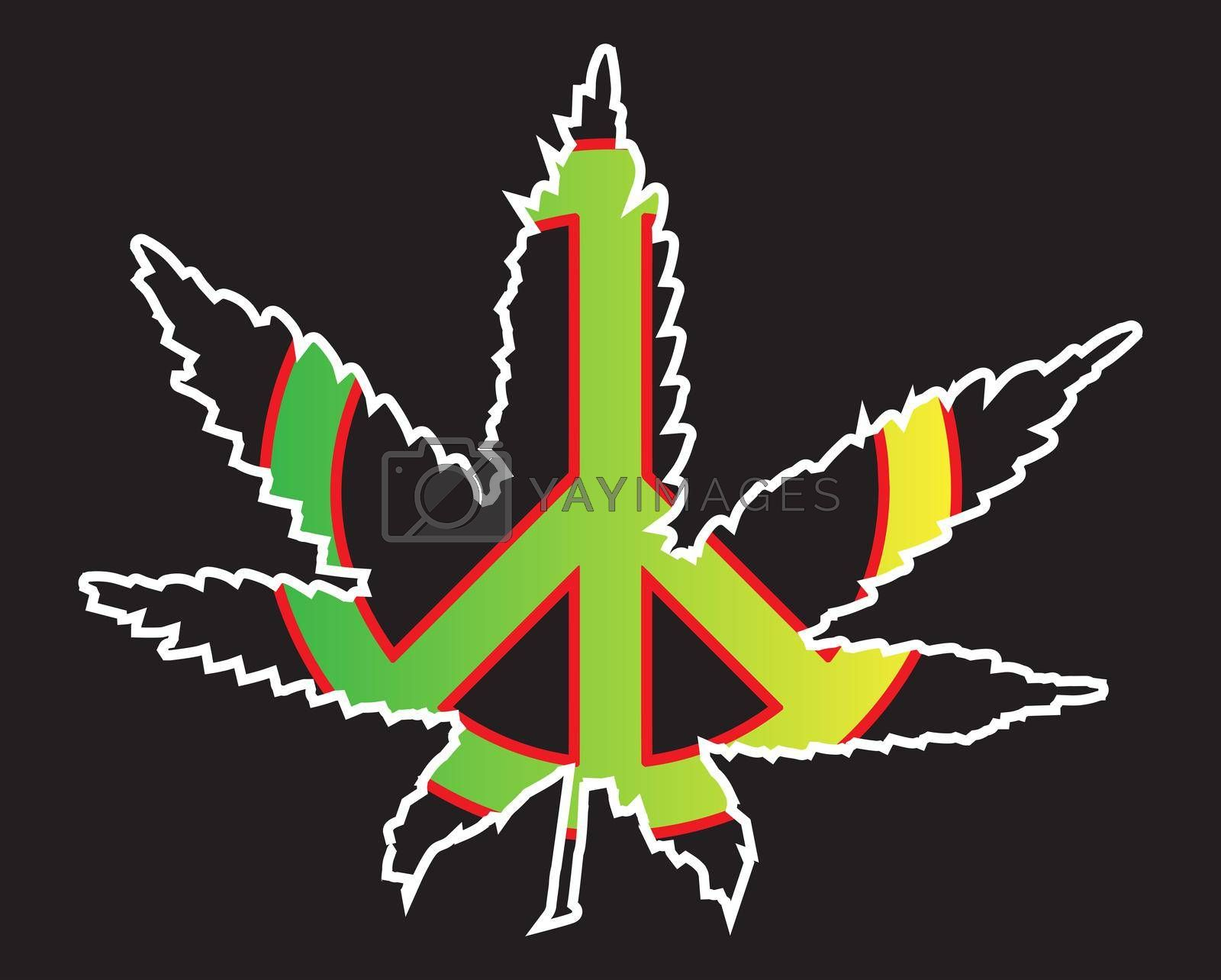 Royalty free image of Jamaice Flag Peace Symbol by Bigalbaloo