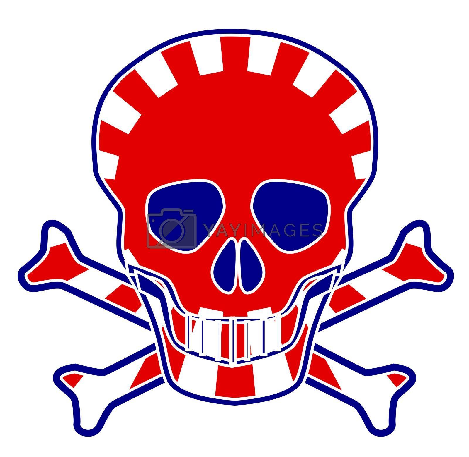 Royalty free image of Japanese Flag Skull by Bigalbaloo
