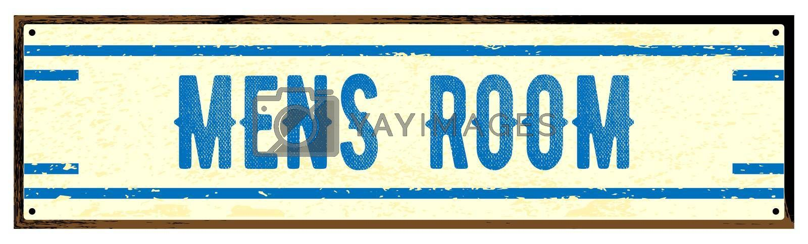 Royalty free image of Mens Room Old Metal Sign by Bigalbaloo
