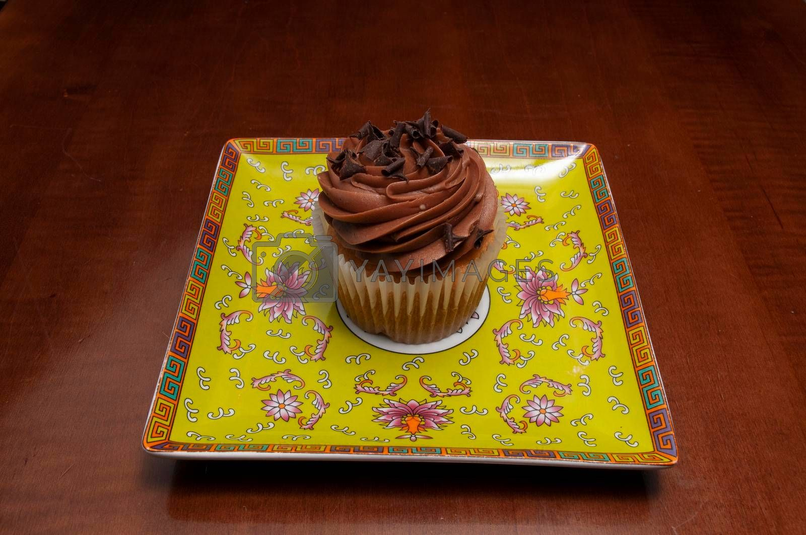Delicious bakery product known as the vanilla chocolate cupcake