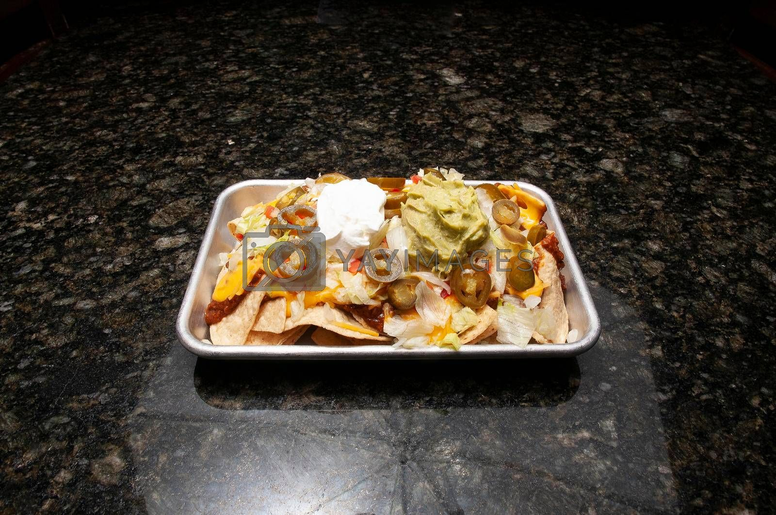 Delicious and authentic Mexican cuisine known as nachos