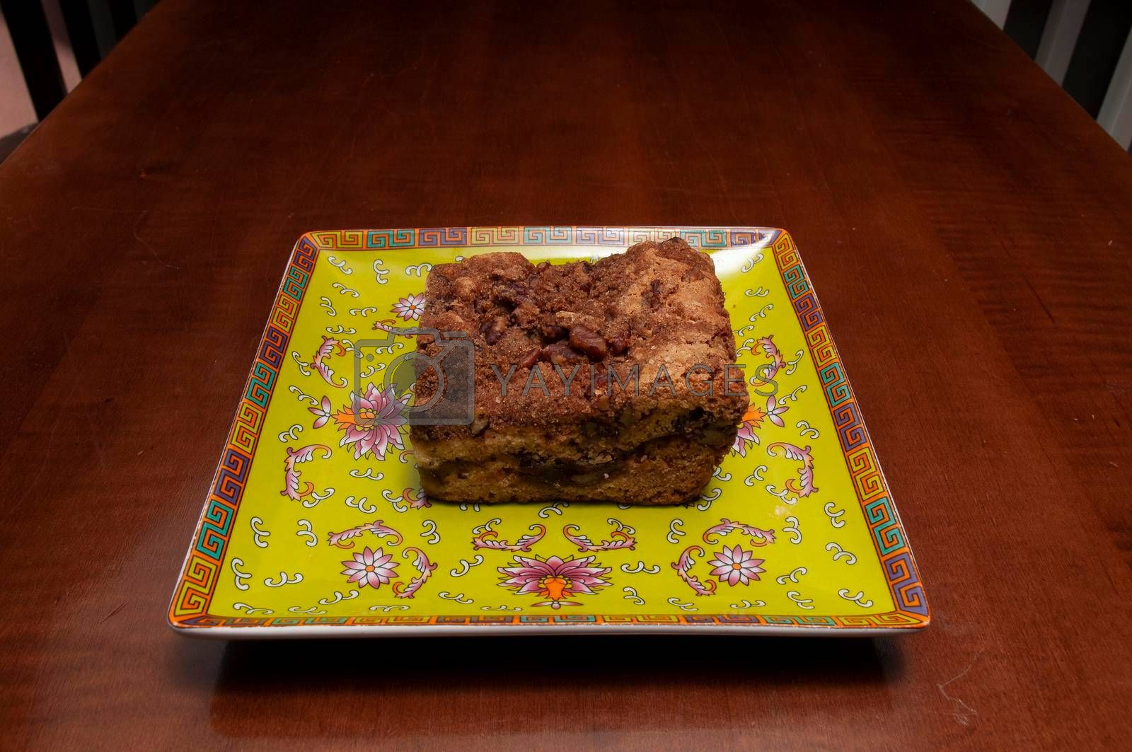 Delicious baked good known as the coffee cake