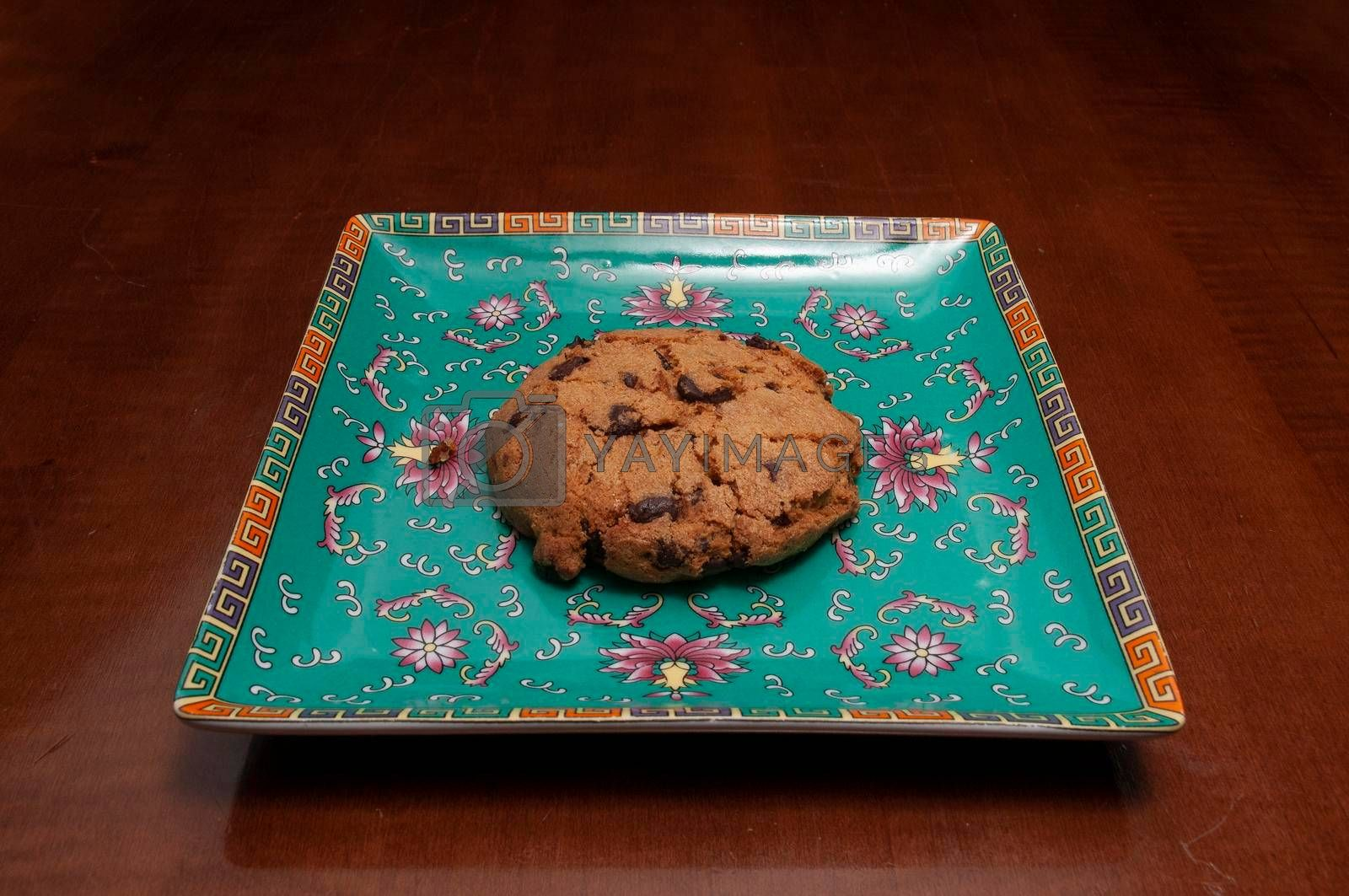 Delicious baked good known as the chocolate chip cookie