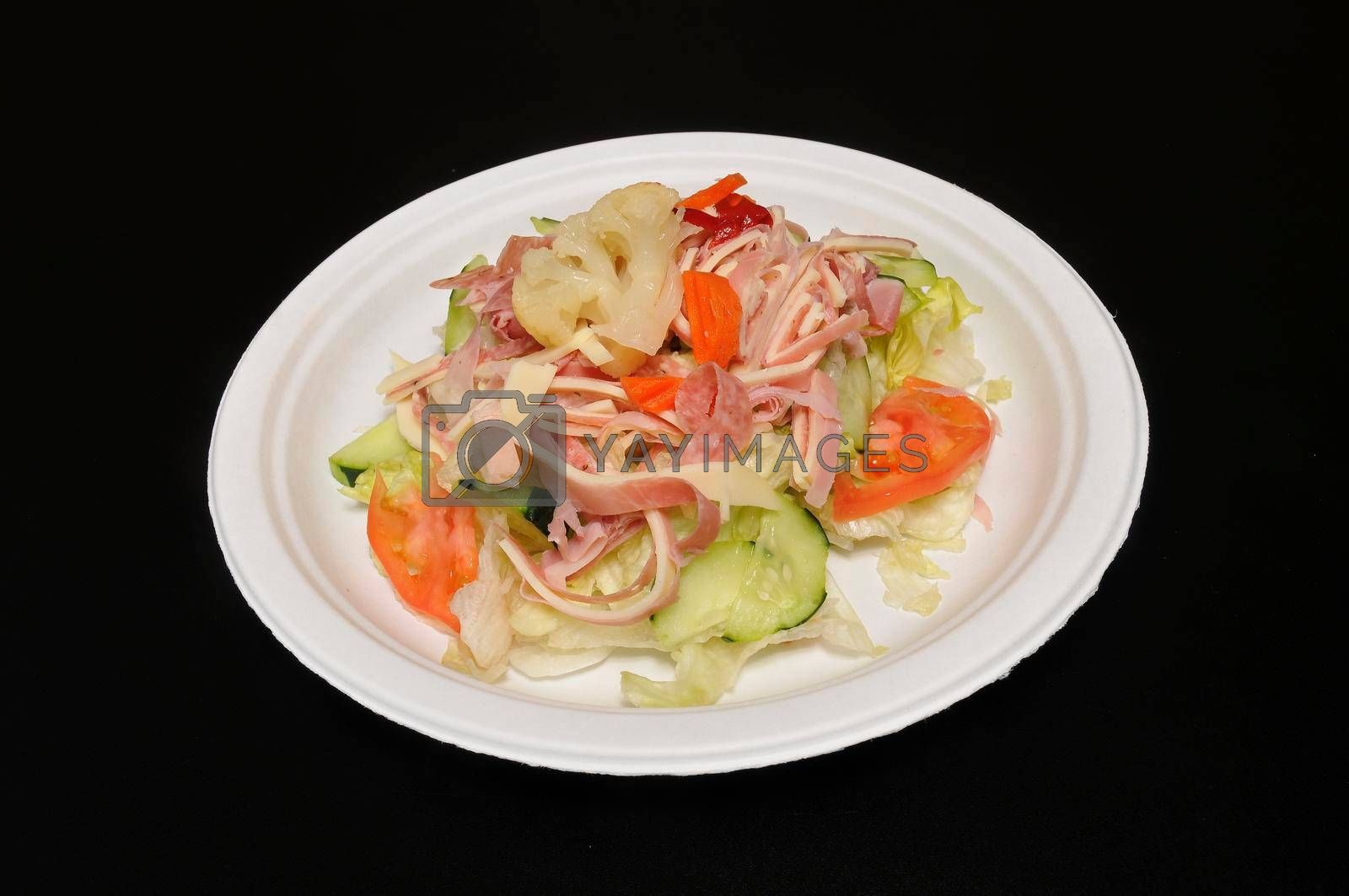 Delicious Italian cuisine known as the antipasto salad