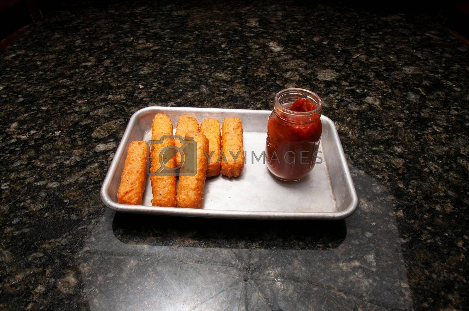 American cuisine dish known a Mozzarella Sticks