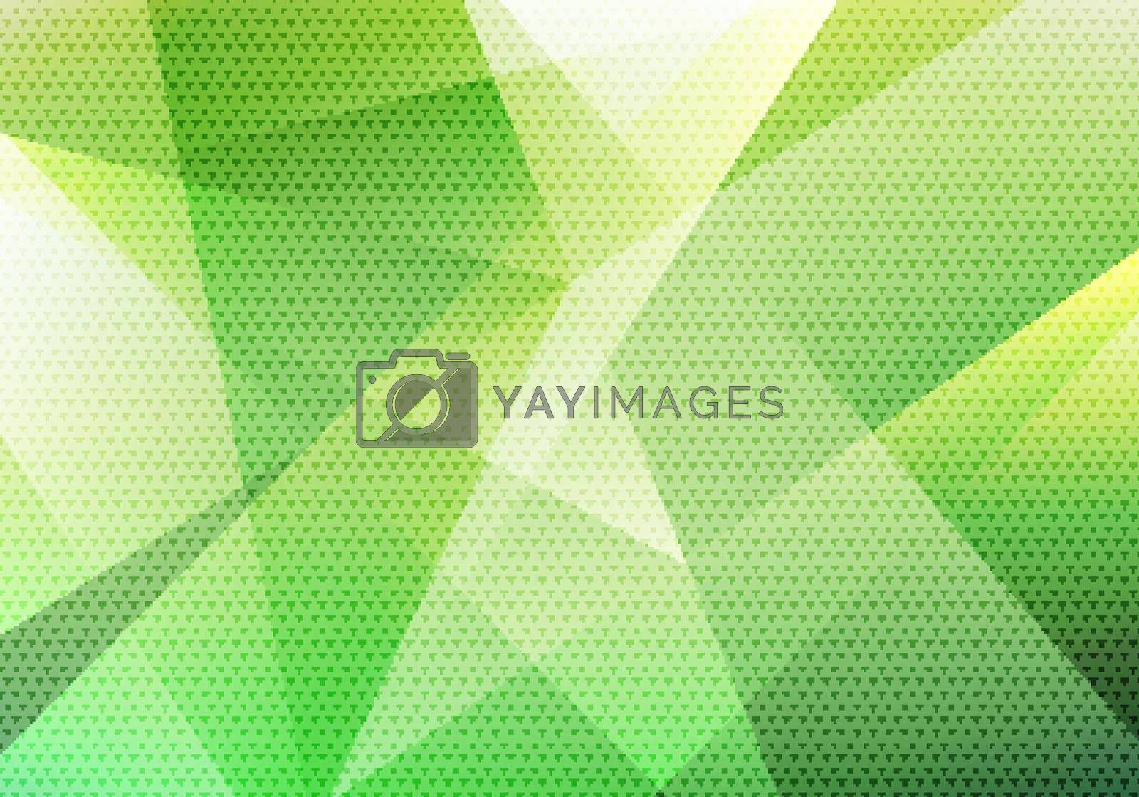 Abstract modern background green low polygon with triangle pattern texture. Vector illustration