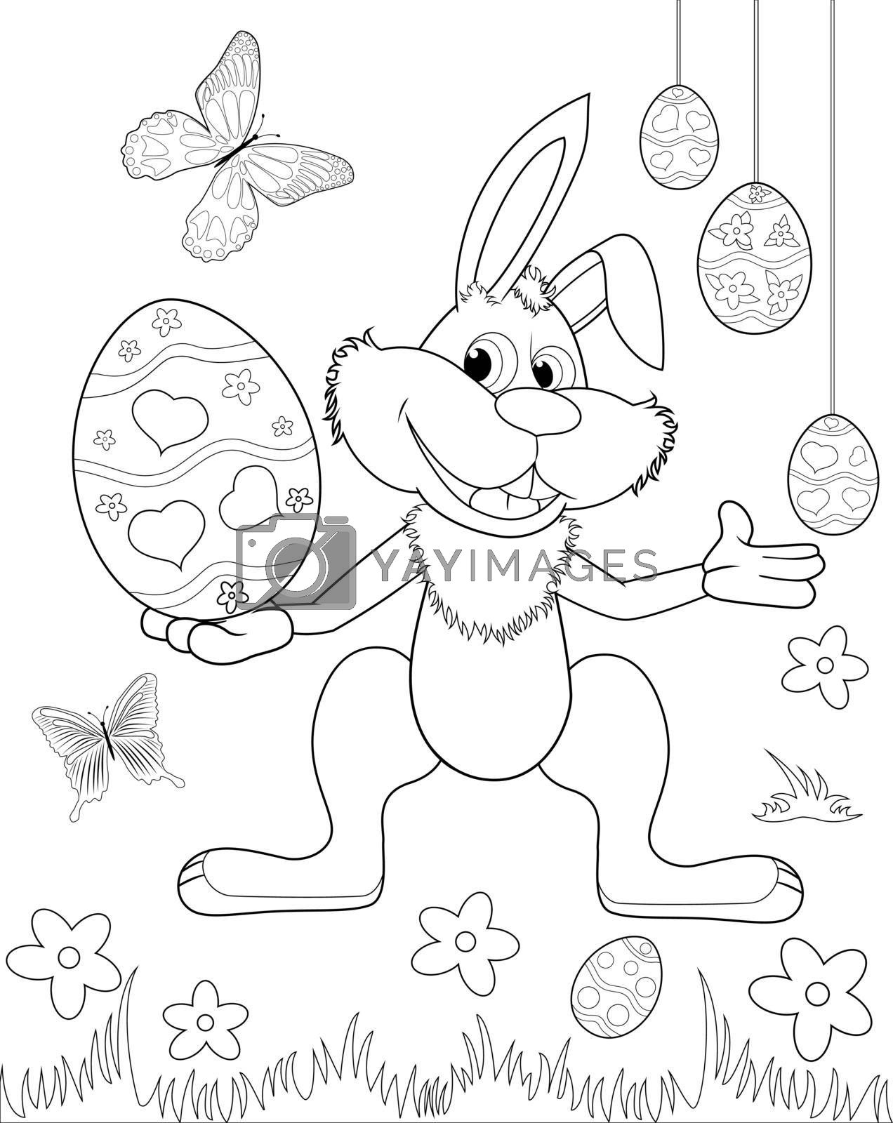 Easter bunny coloring book 1 by liolle