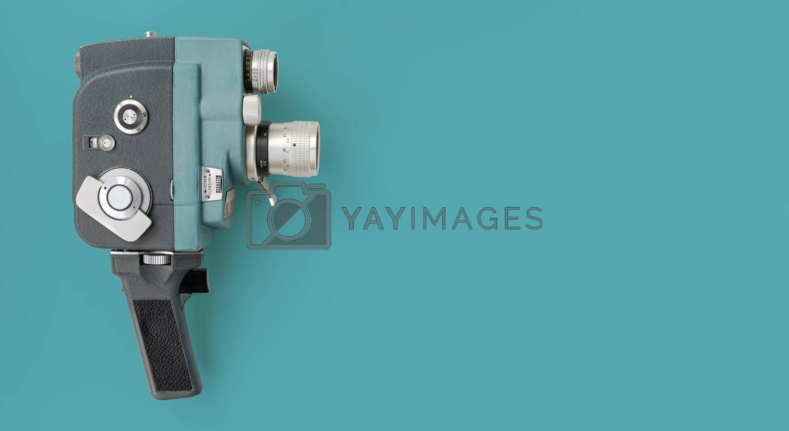 Royalty free image of Vintage 8mm camera with 8mm reel. by maramade