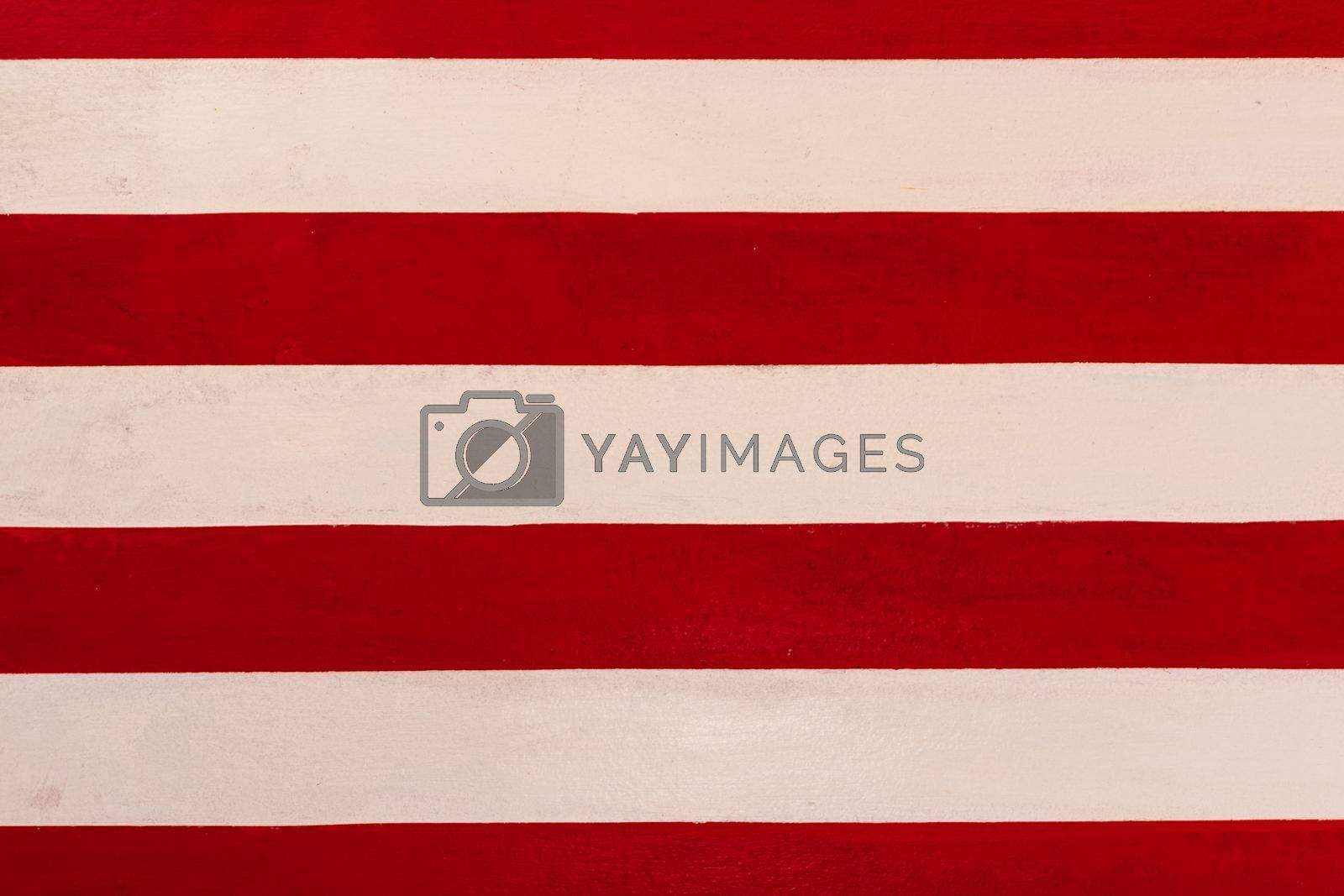 Red and white line painting texture background.