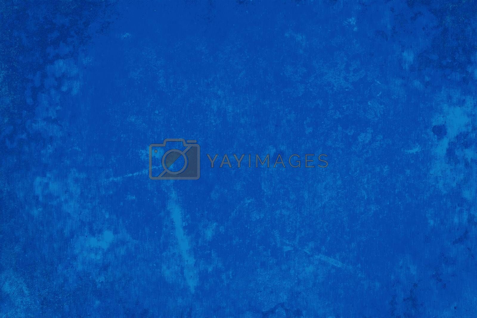 Abstract blue cement and background. Dark grunge concrete texture.