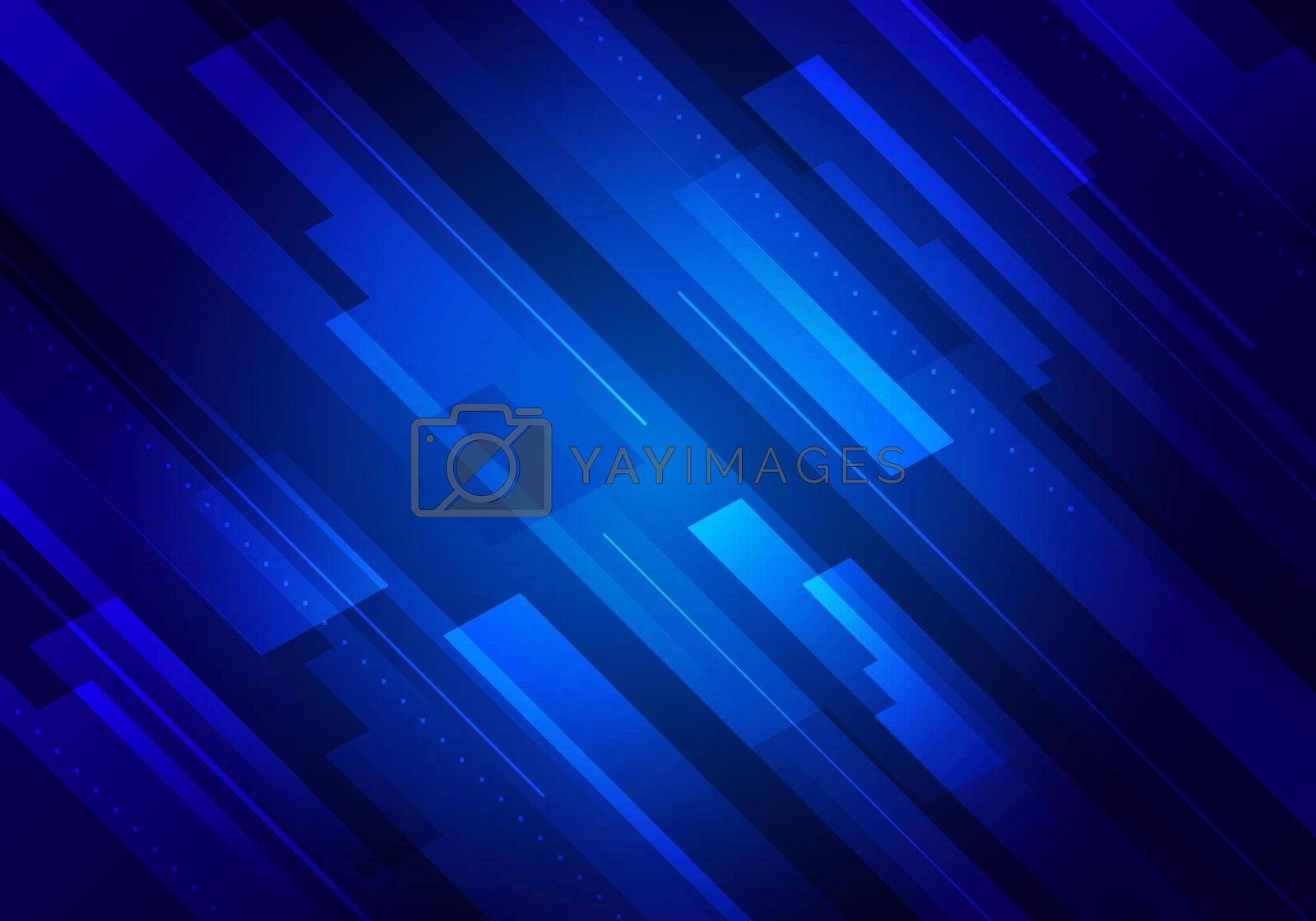 Abstract technology futuristic concept blue glowing diagonal stripes layered on dark background. Vector illustration