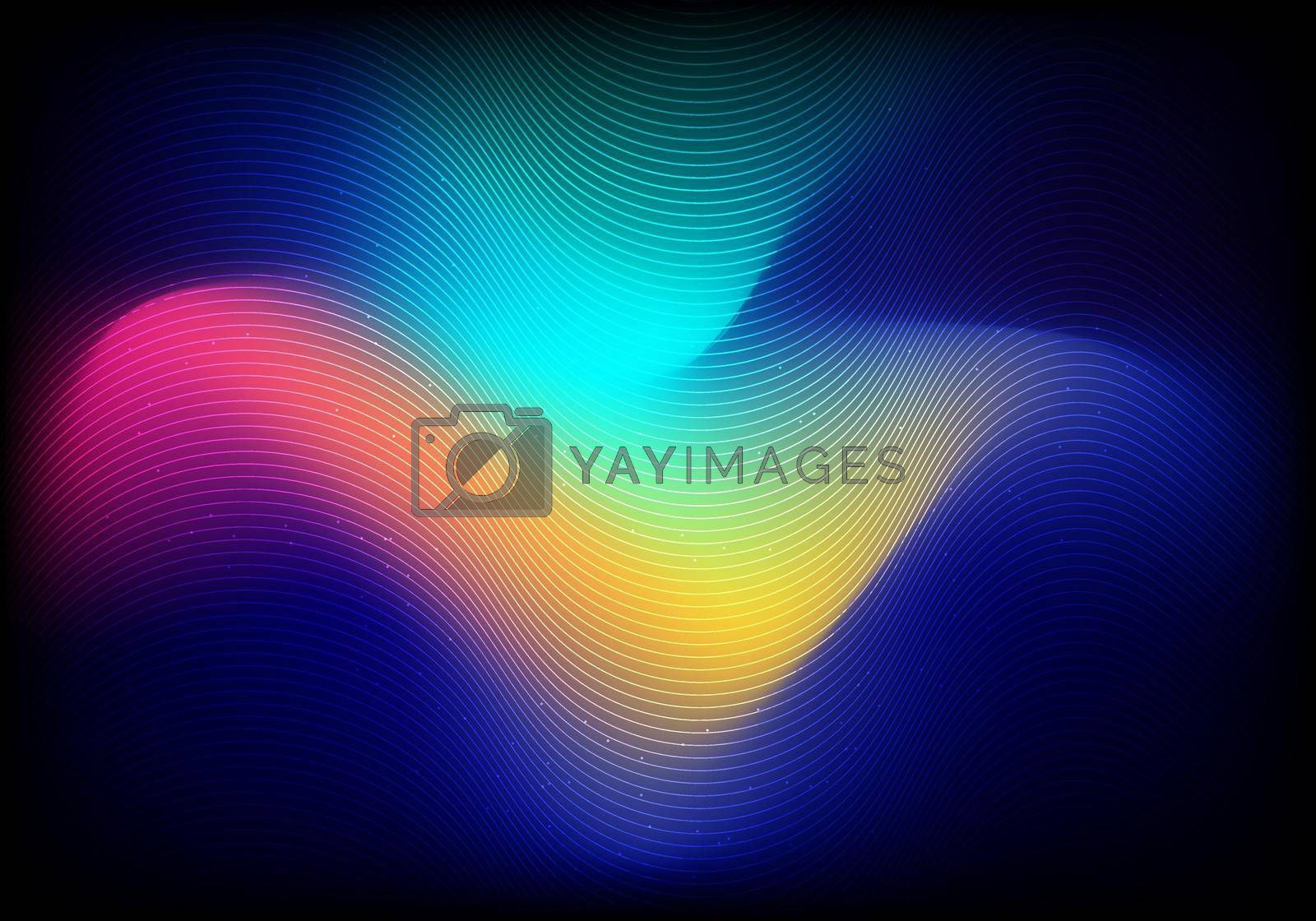 Abstract trendy minimal style fluid blurred vibrant gradient color background. You can use for poster, cover brochure, placard, banner web, music festival, etc. Vector illustration