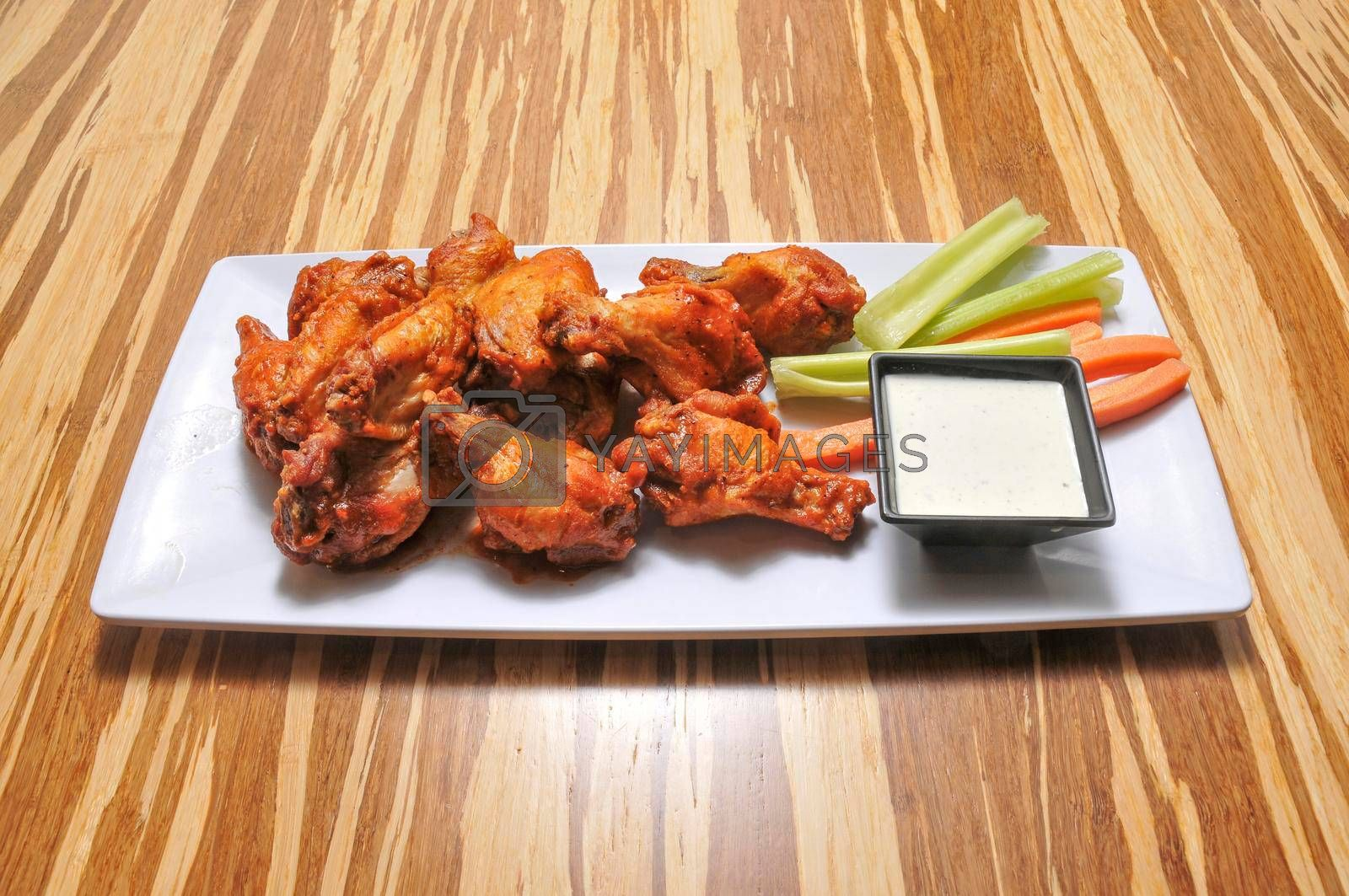 American cuisine dish known as chicken wings