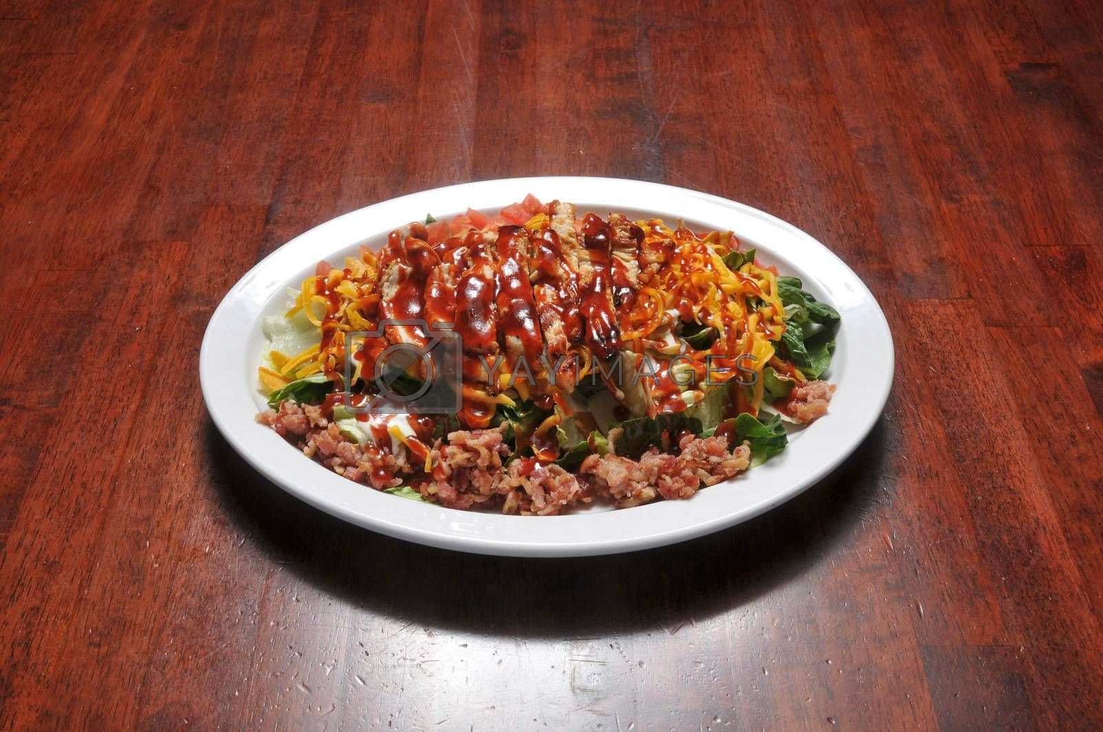 Traditional American cuisine known as bbq chicken salad