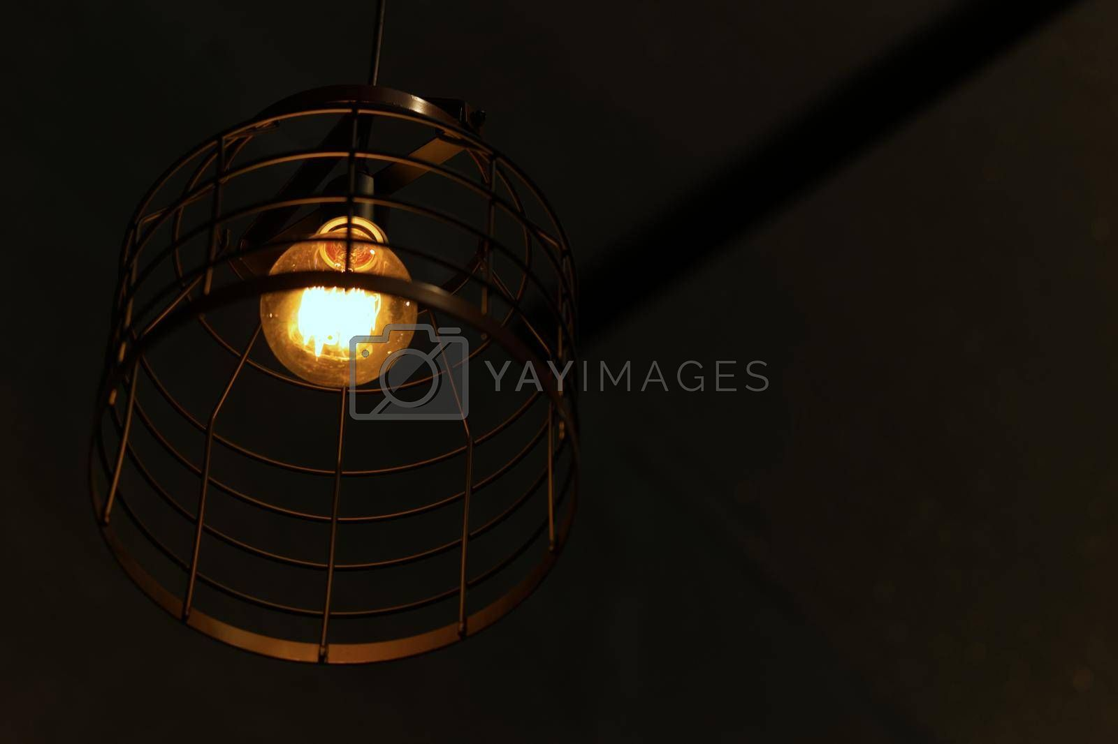 Vintage style light bulbs in restaurants