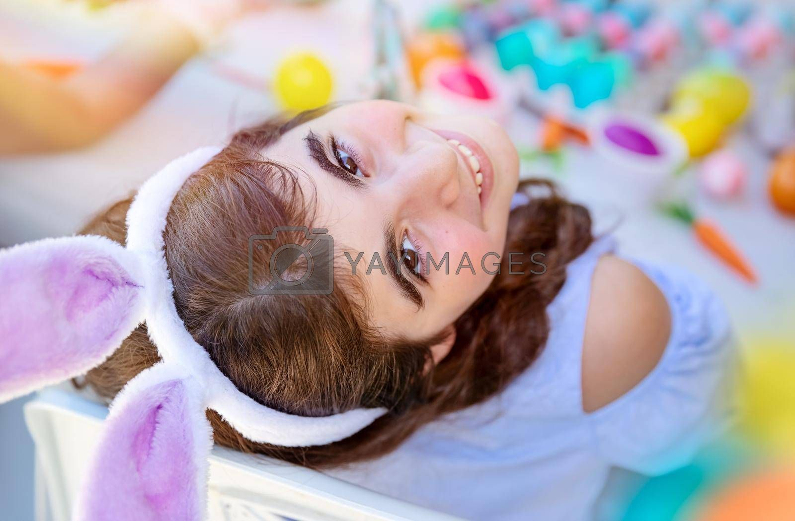 Royalty free image of Little Girl Enjoying Easter by Anna_Omelchenko