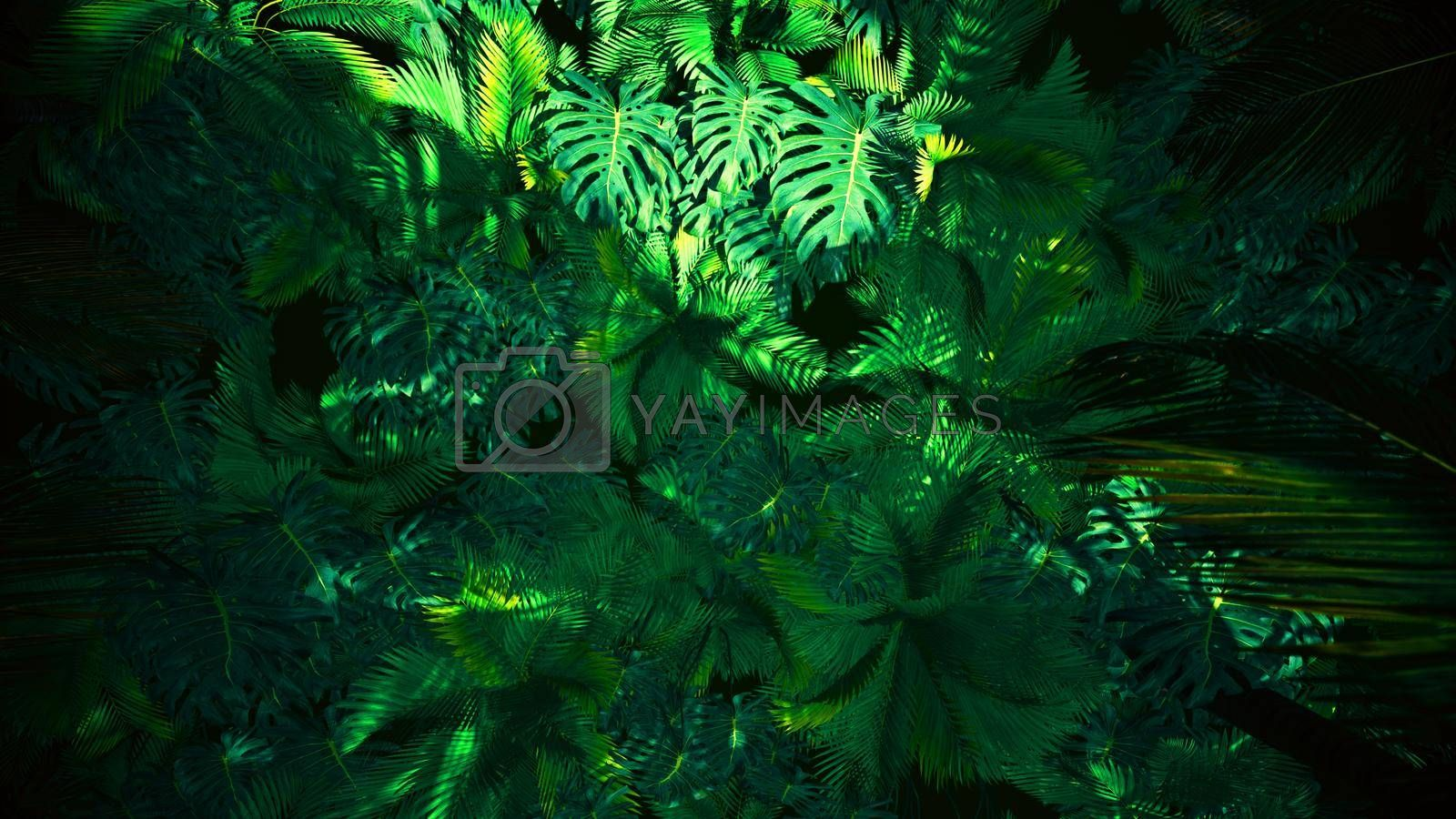 3D illustration Background for advertising and wallpaper in nature and advertising scene. 3D rendering in decorative concept