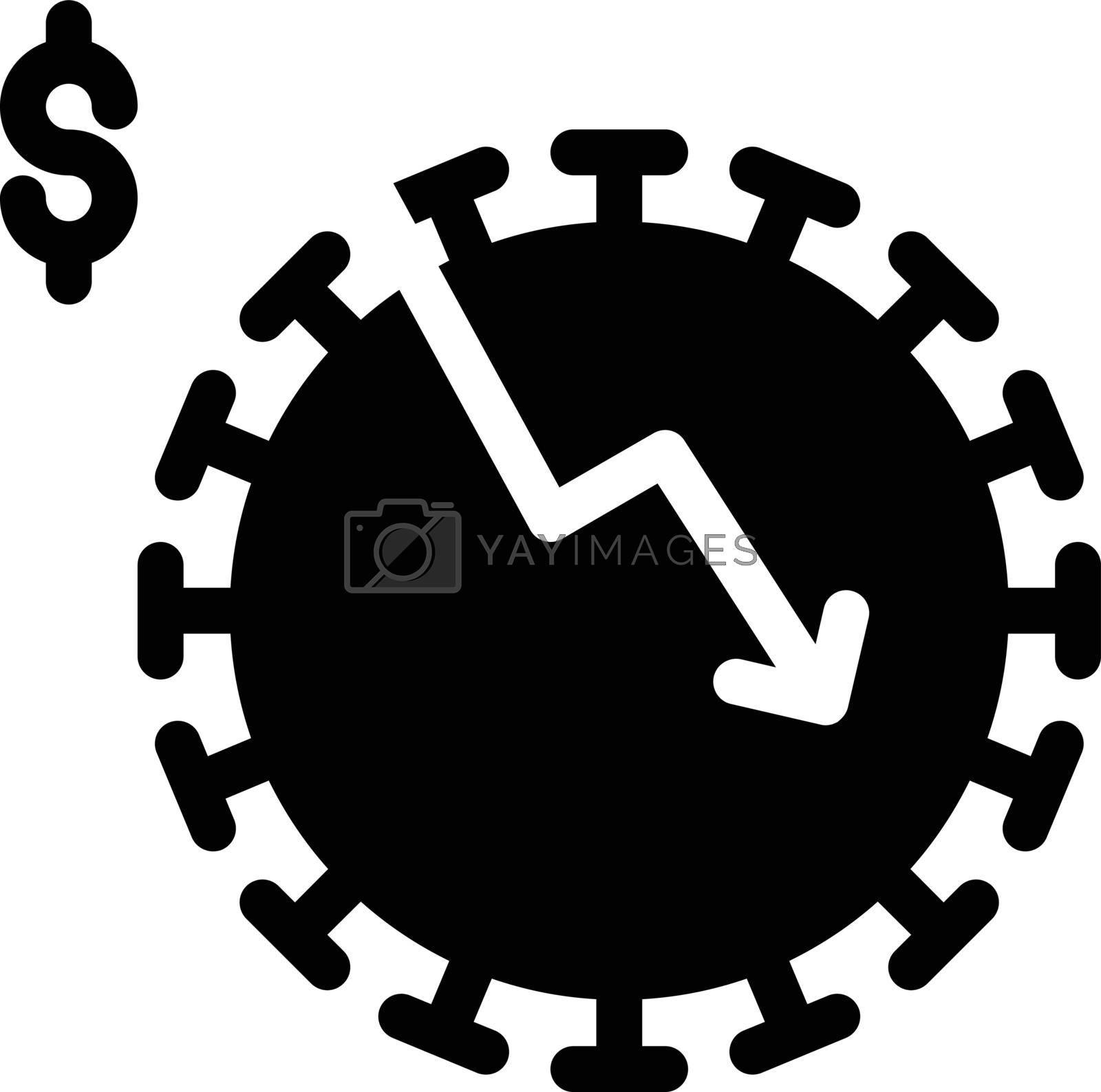 virus decrease vector glyph flat icon