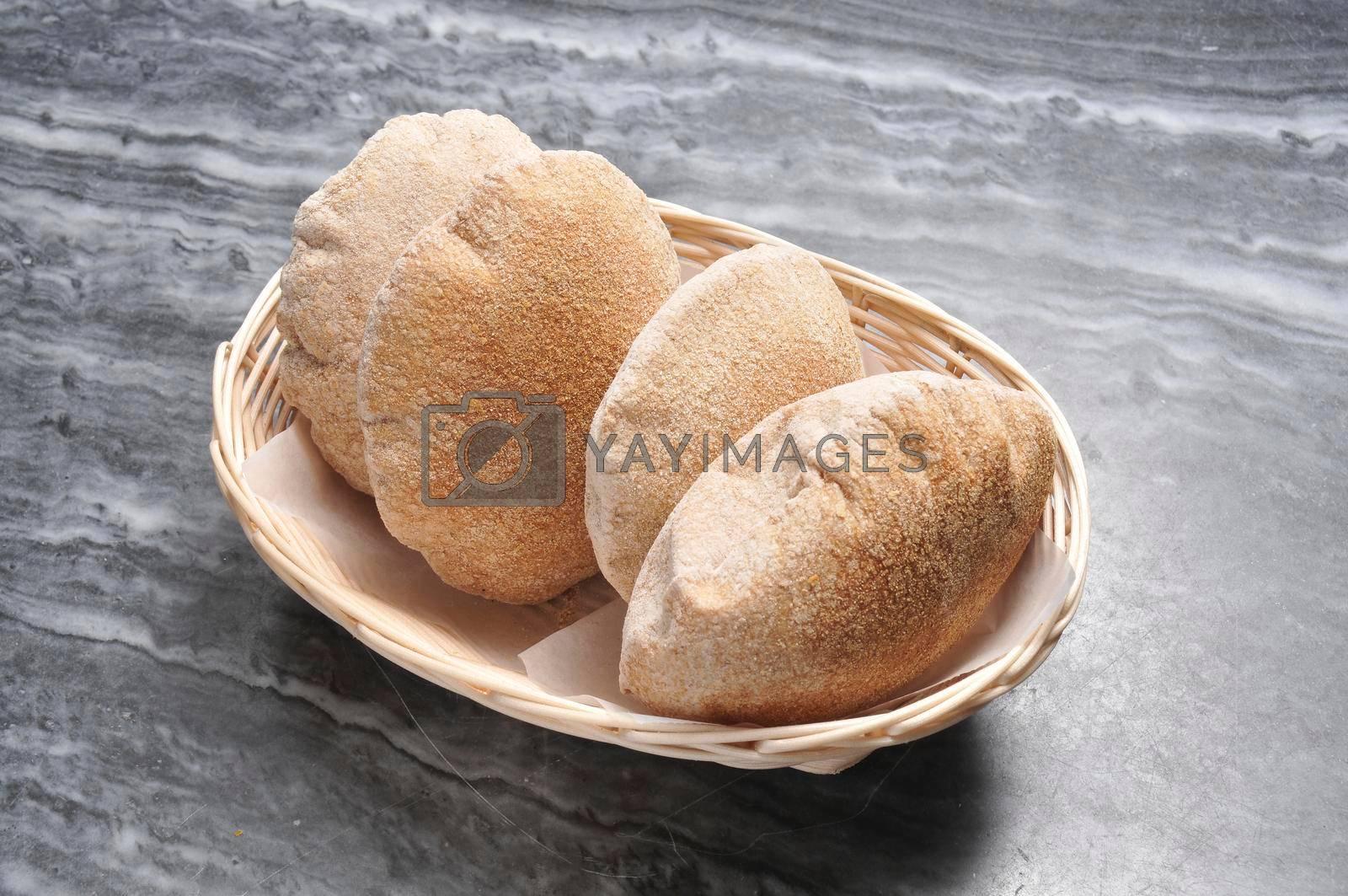 Delicious mediterranean cuisine known as pita bread