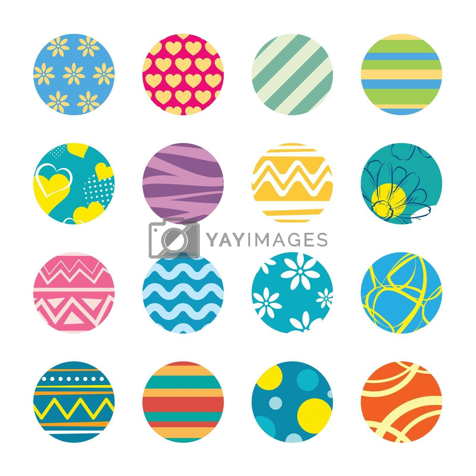 Keychain with easter theme design template.