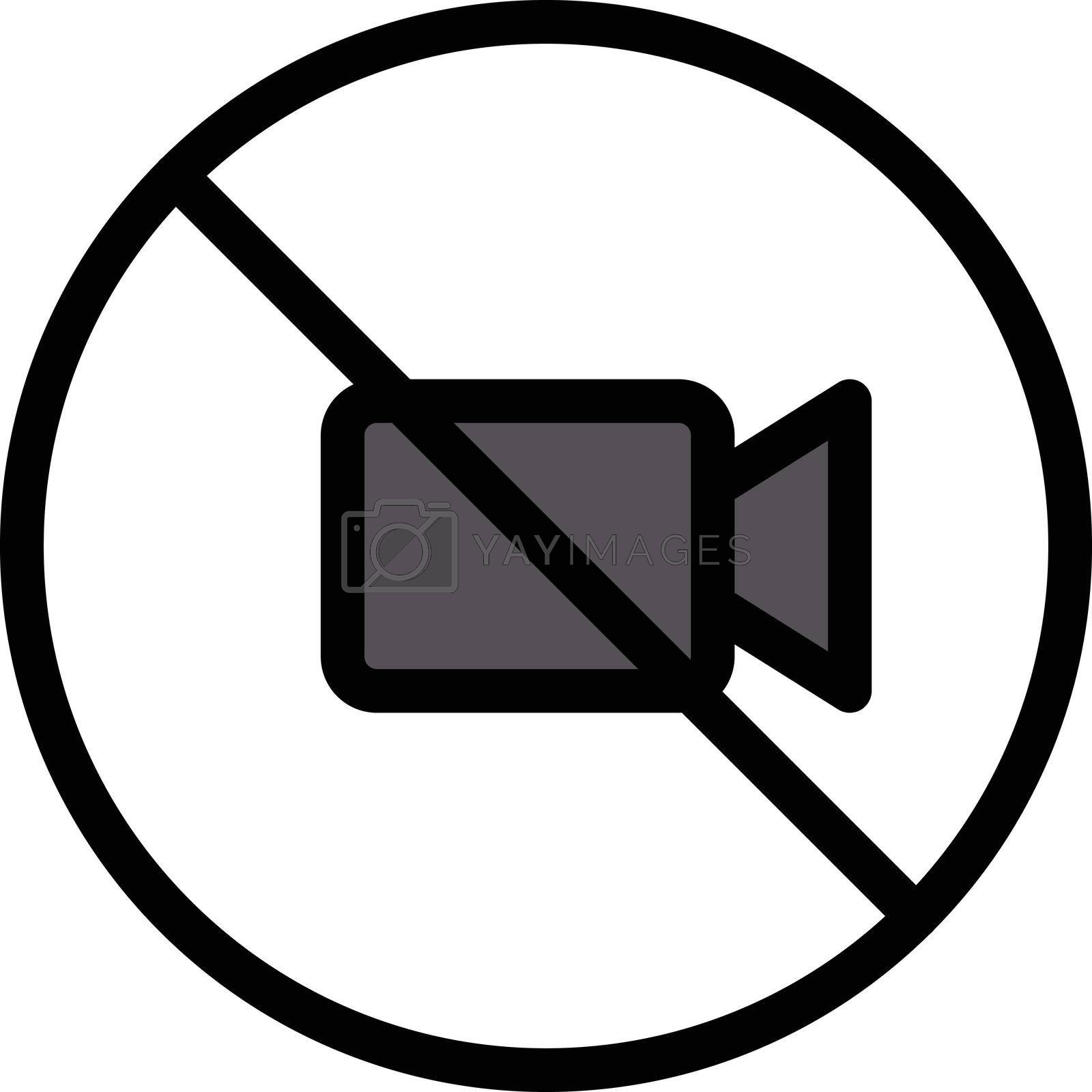 Royalty free image of video not allowed by vectorstall