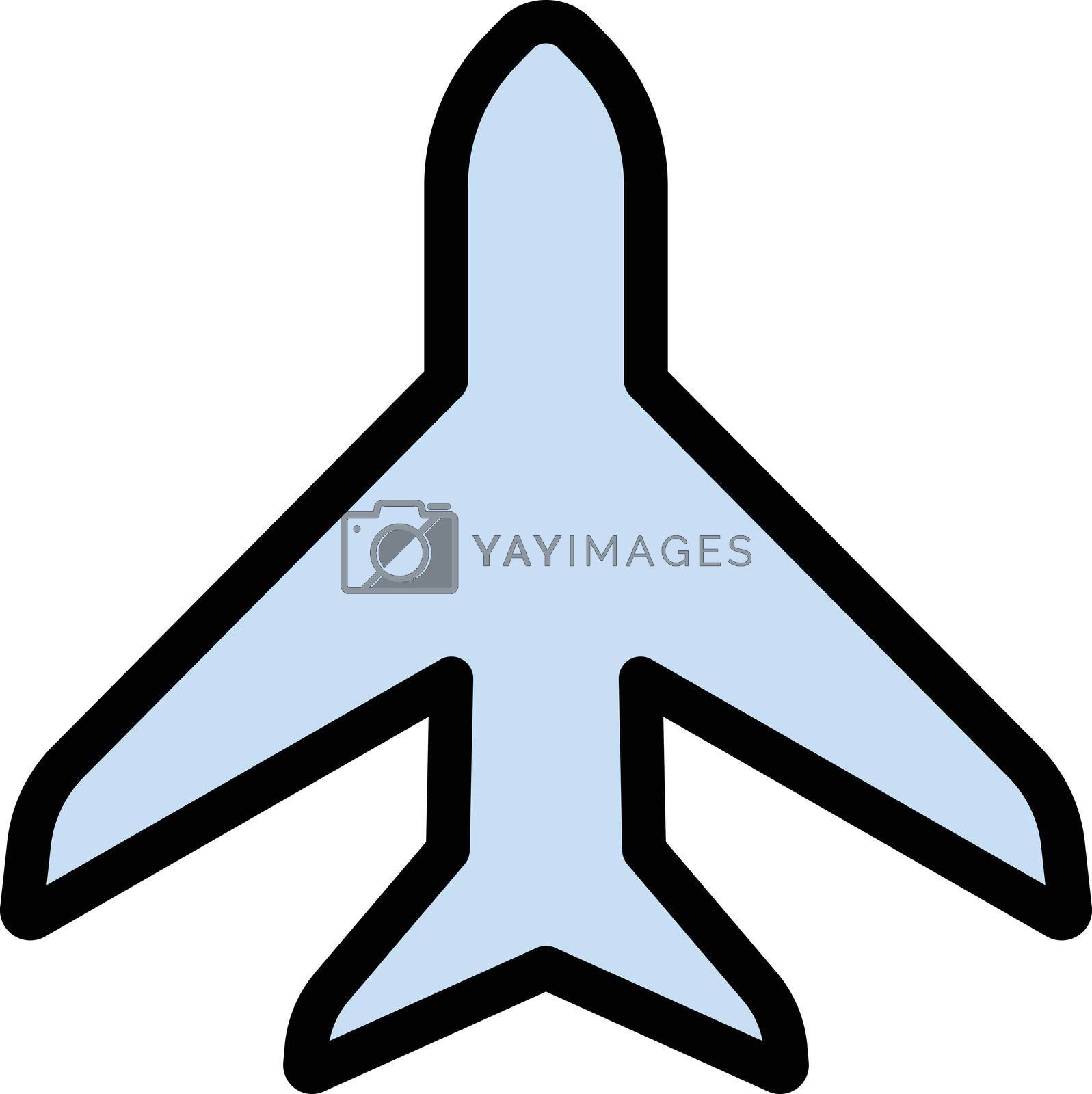 Royalty free image of airplane by vectorstall