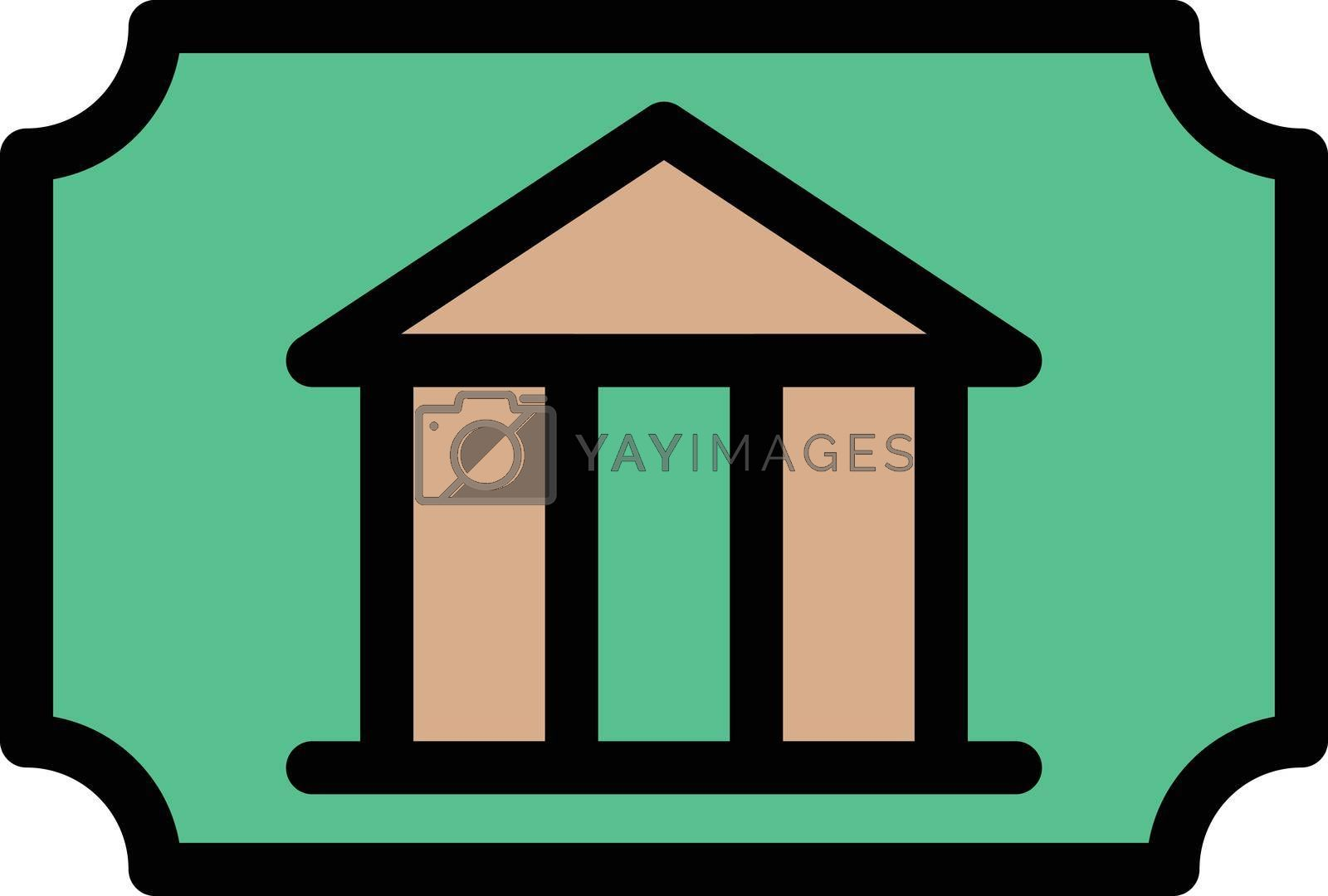 Royalty free image of museum ticke by vectorstall