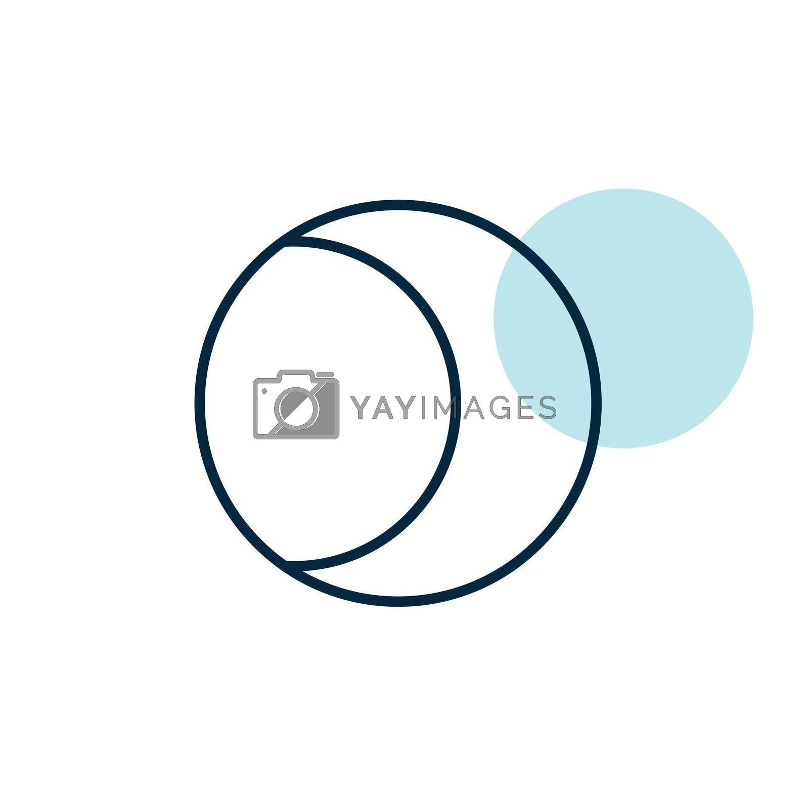 Young Moon vector icon. Meteorology sign. Graph symbol for travel, tourism and weather web site and apps design, logo, app, UI