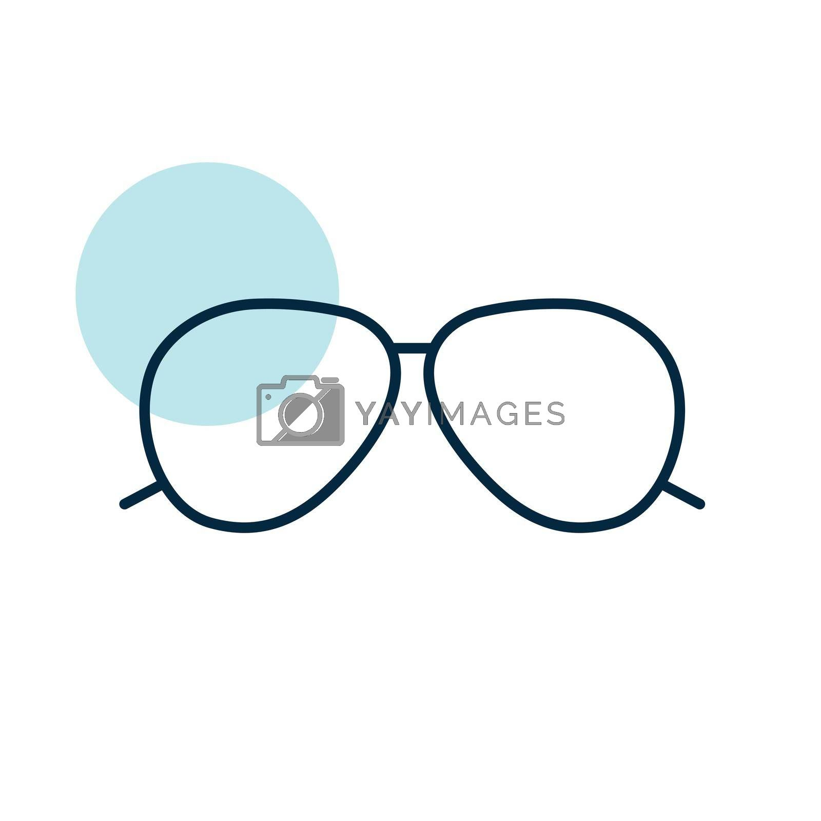 Sunglasses flat vector icon. Summer sign. Graph symbol for travel and tourism web site and apps design, logo, app, UI