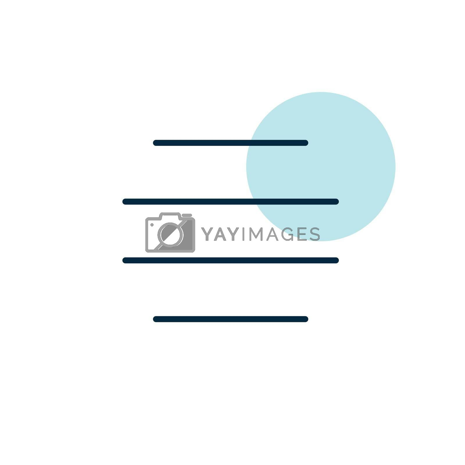 Fog vector icon. Meteorology sign. Graph symbol for travel, tourism and weather web site and apps design, logo, app, UI