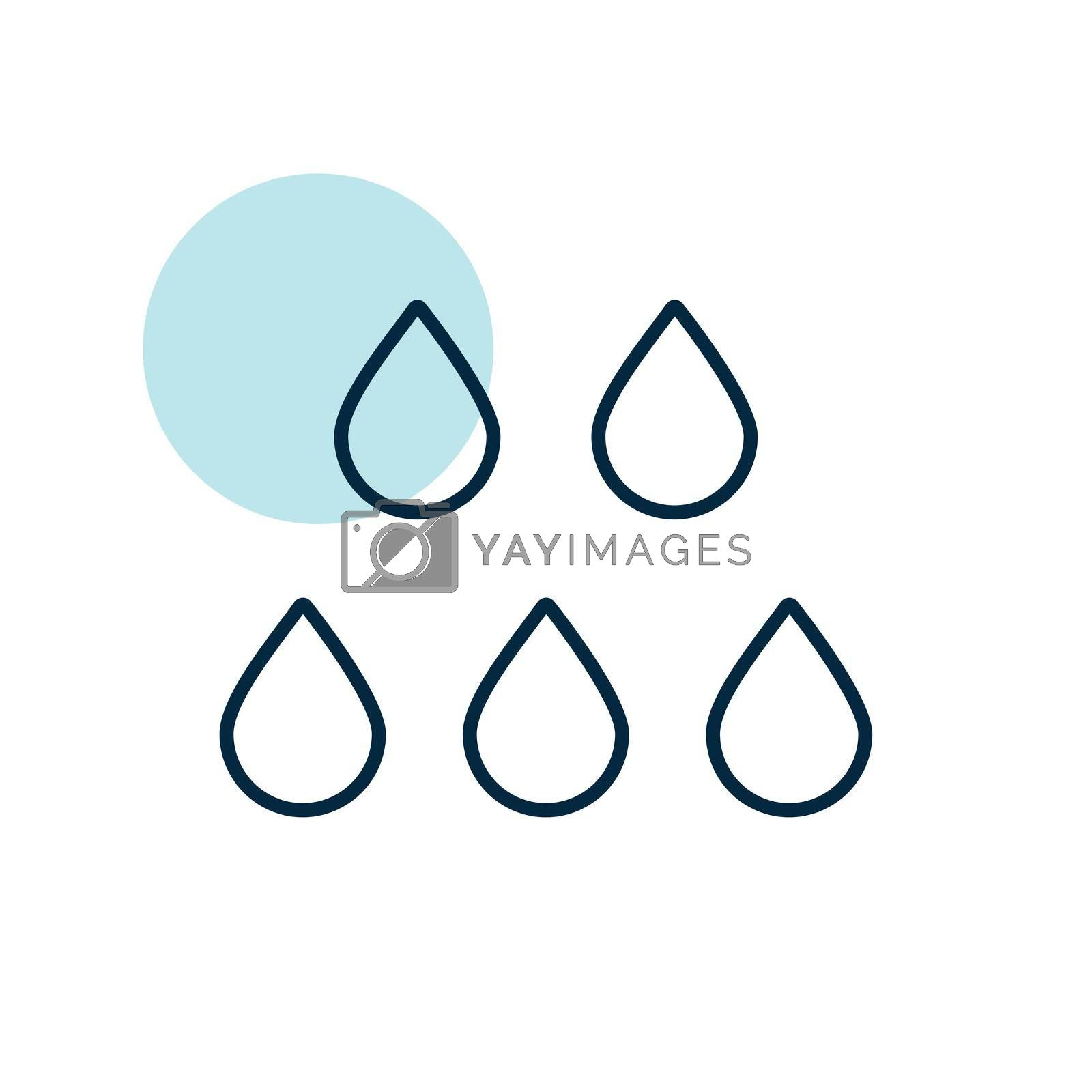 Drop water vector icon. Meteorology sign. Graph symbol for travel, tourism and weather web site and apps design, logo, app, UI