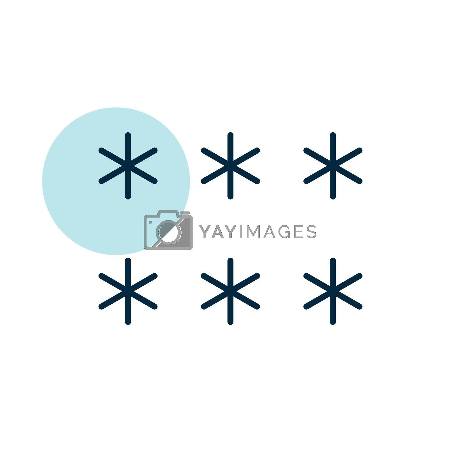 Snowflakes vector icon. Meteorology sign. Graph symbol for travel, tourism and weather web site and apps design, logo, app, UI