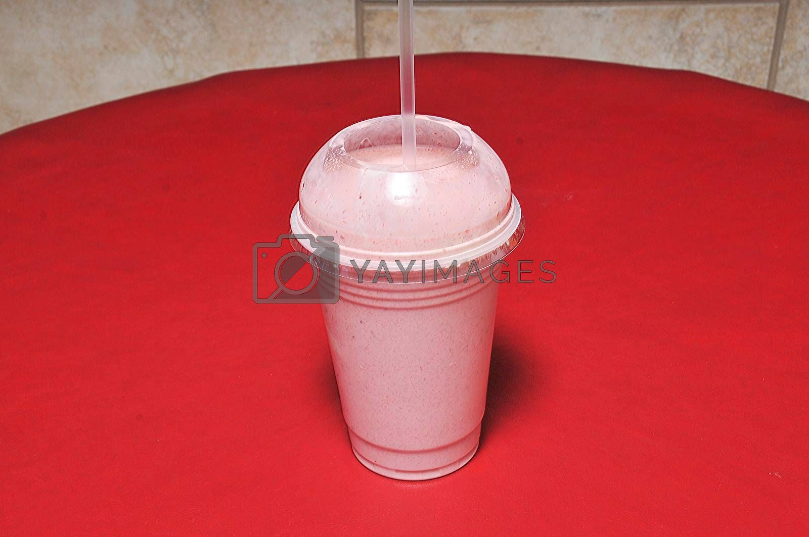 Traditional American beverage known as the strawberry milkshake