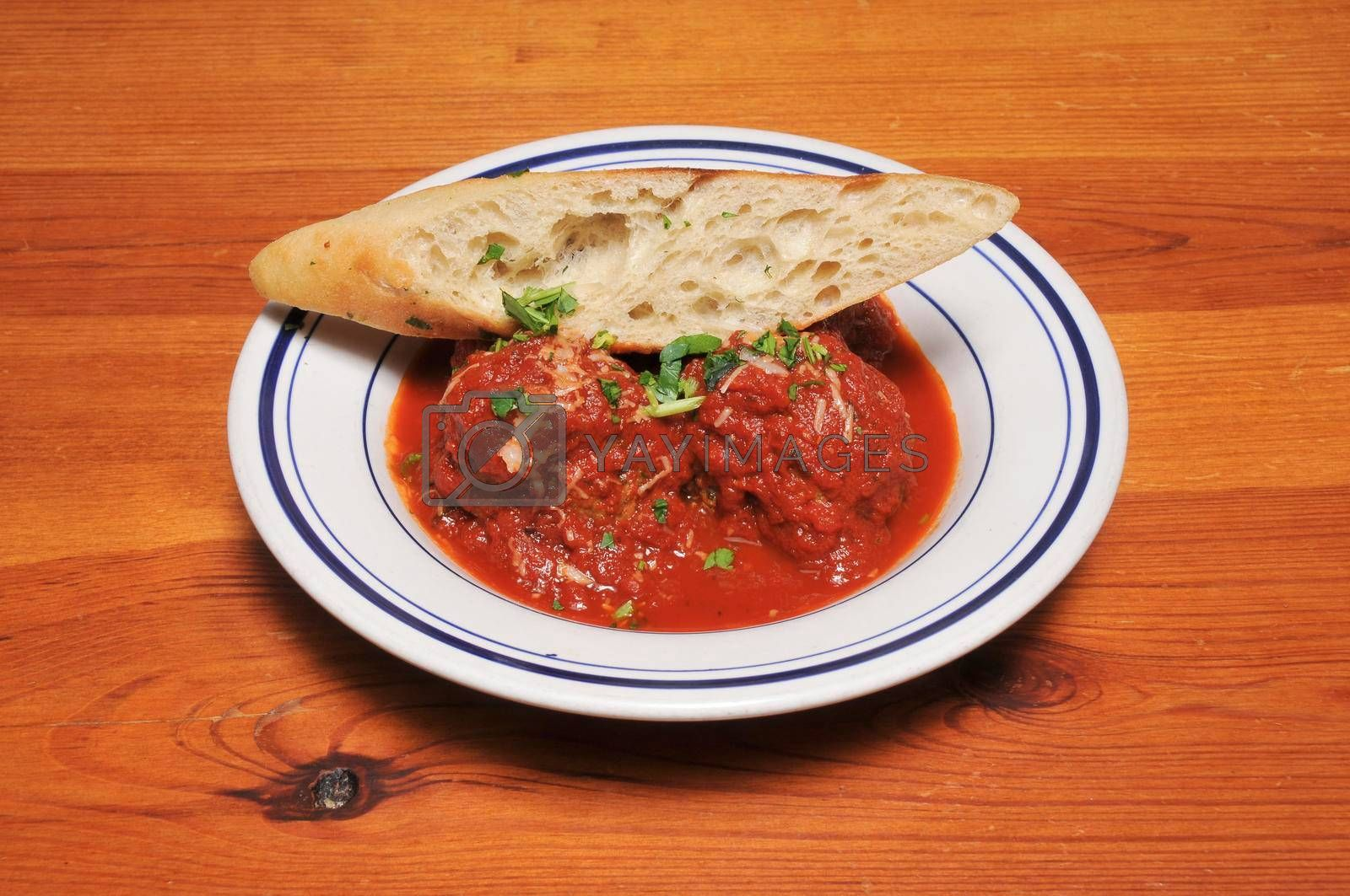 Authentic Italian cuisine known as a meatballs