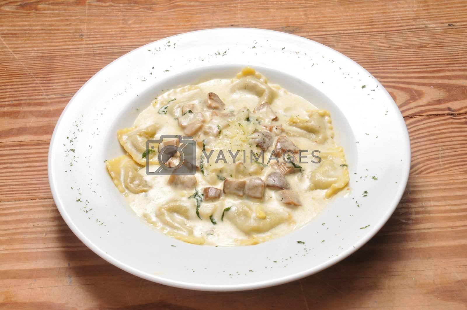 Authentic Italian cuisine known as Ravioli Cortina