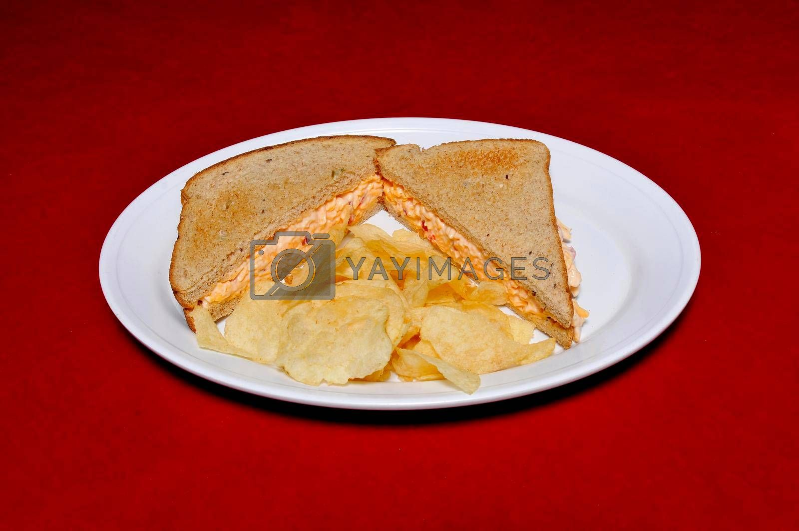 Delicious American cuisine known as the Pimento Cheese Sandwich