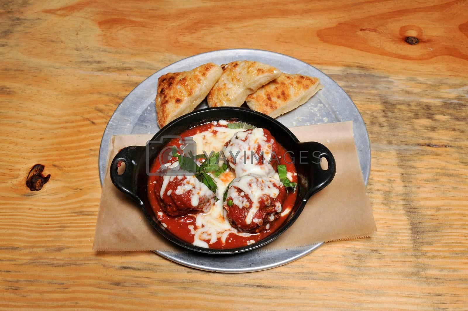Authentic Italian cuisine known as a meatball